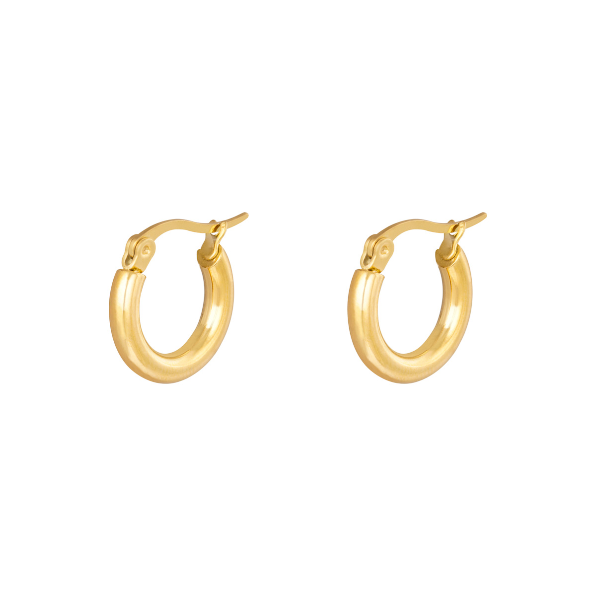Boucles d'oreilles Hoops Smooth 15 mm