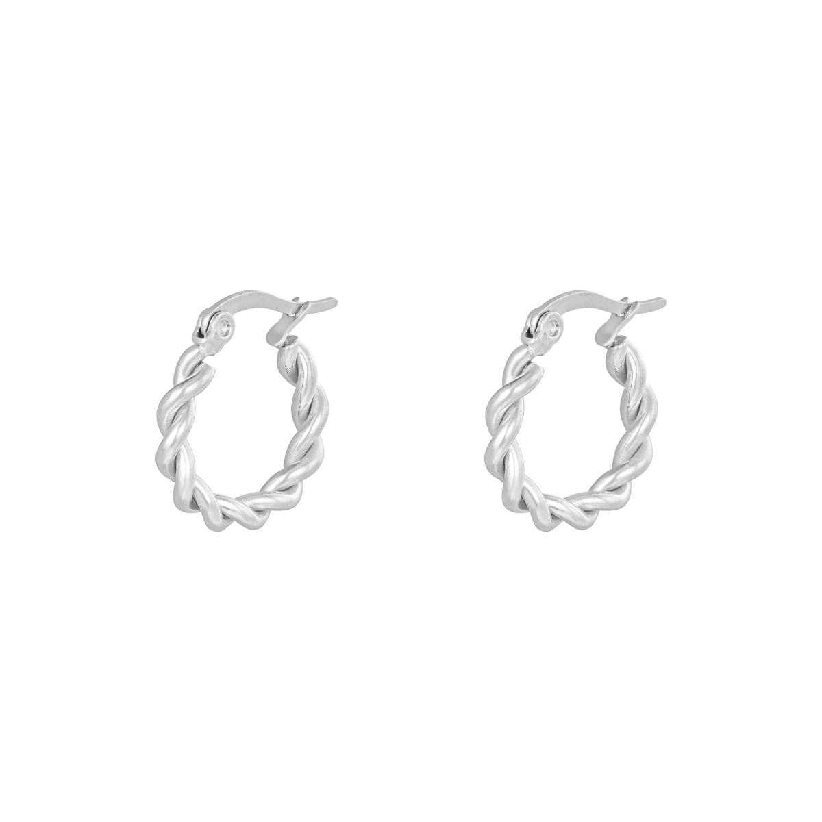 Ohrringe hoops twine 15 mm