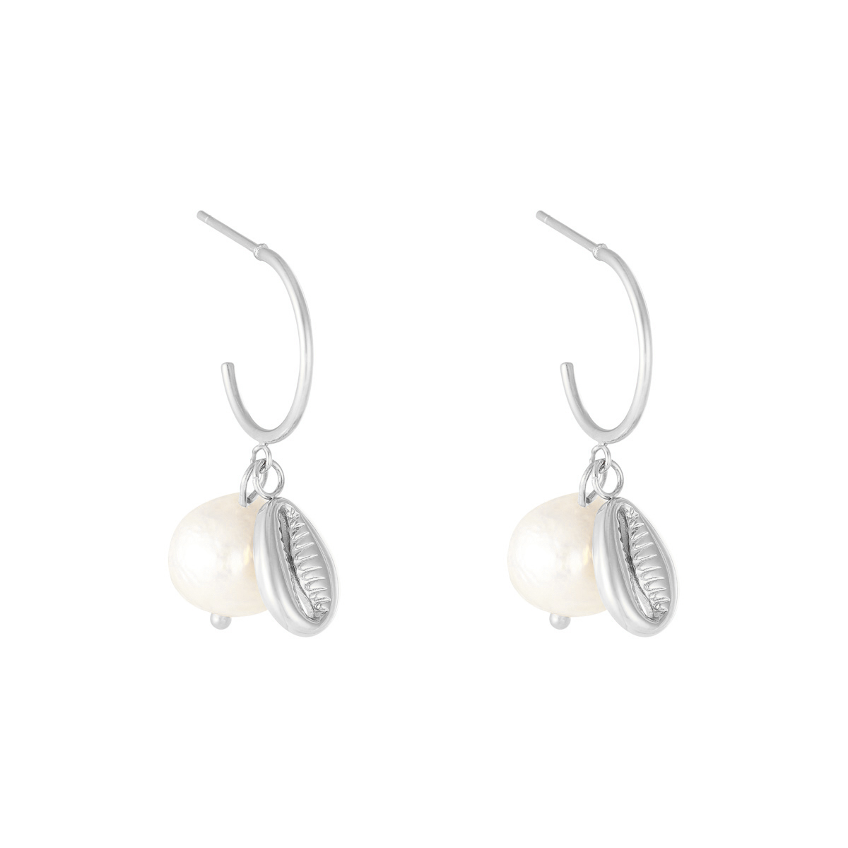 Ohrringe pearl with shell