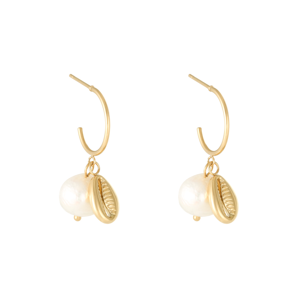 Earrings Pearl With Shell