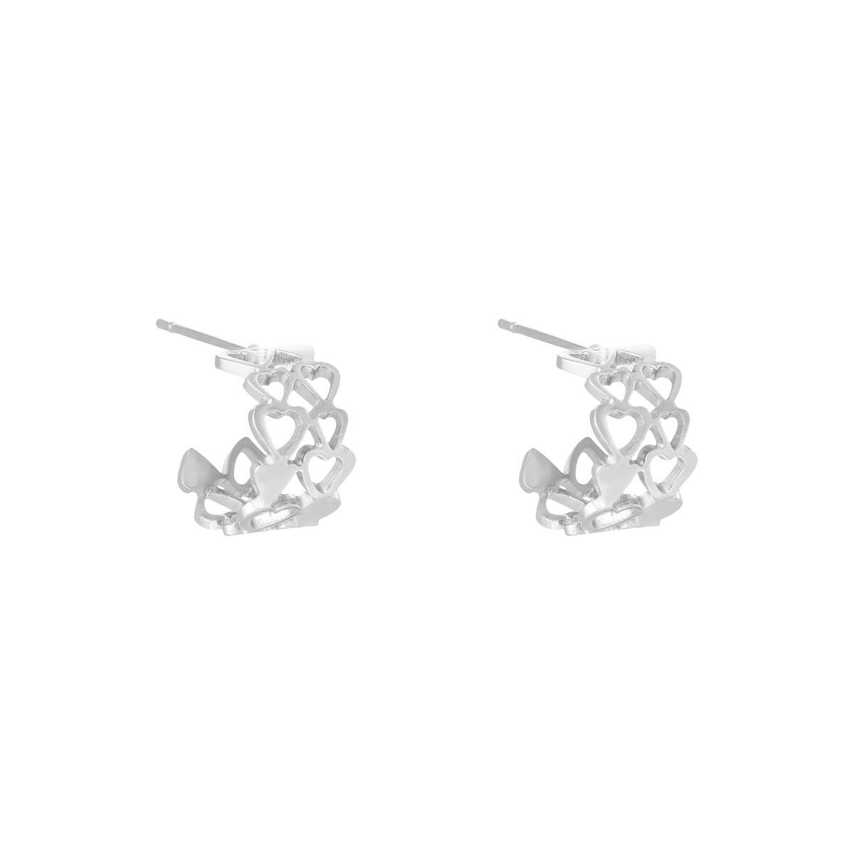 Earrings Bonded Hearts