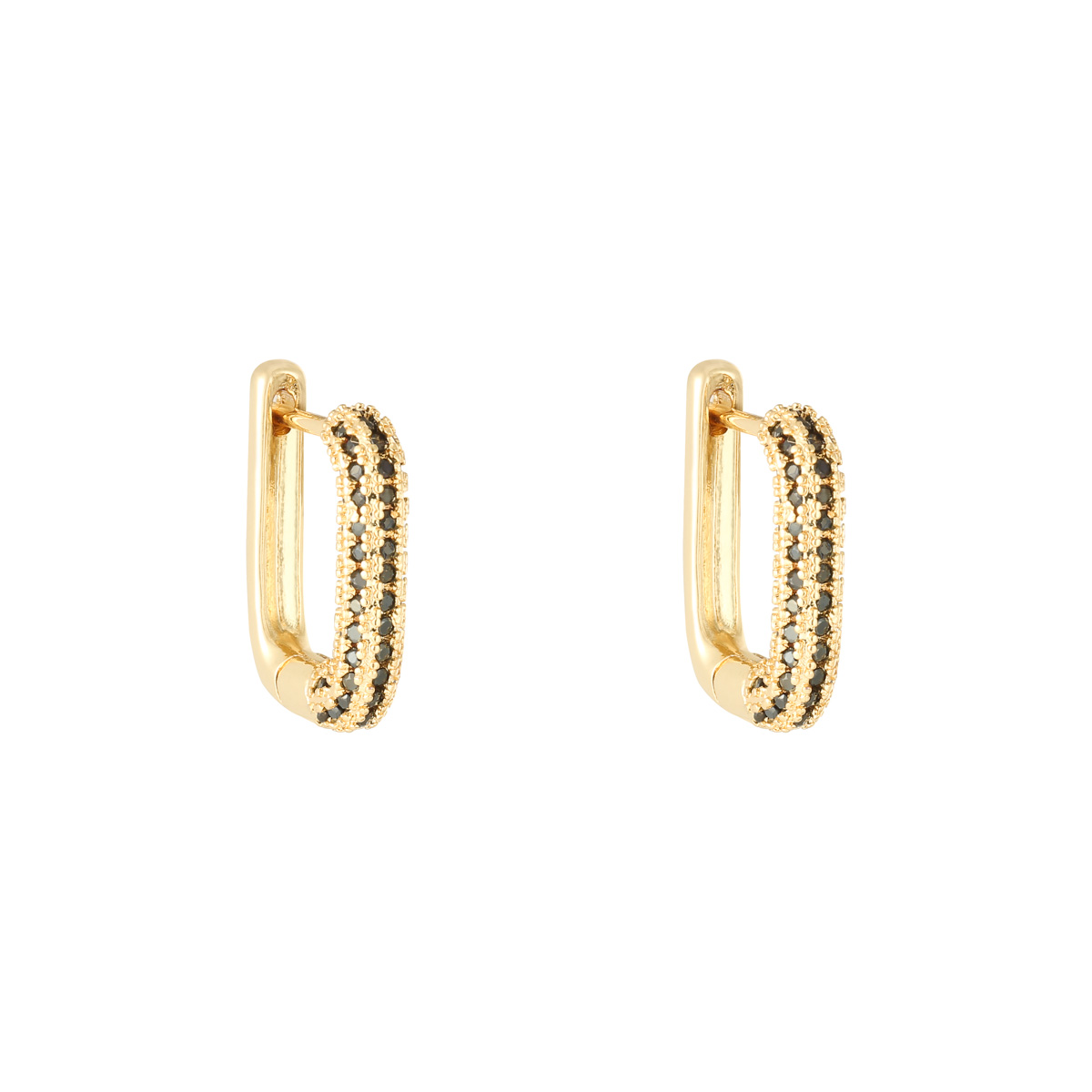 Earrings diamond rectangle