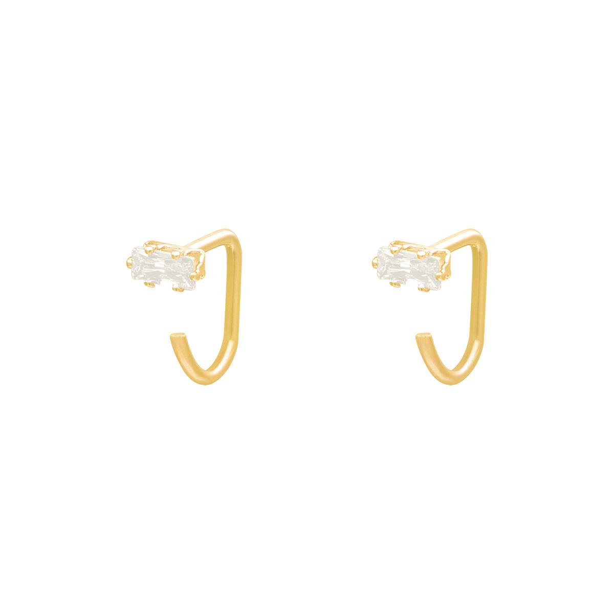Boucles d'oreilles Huggies Square Zircon