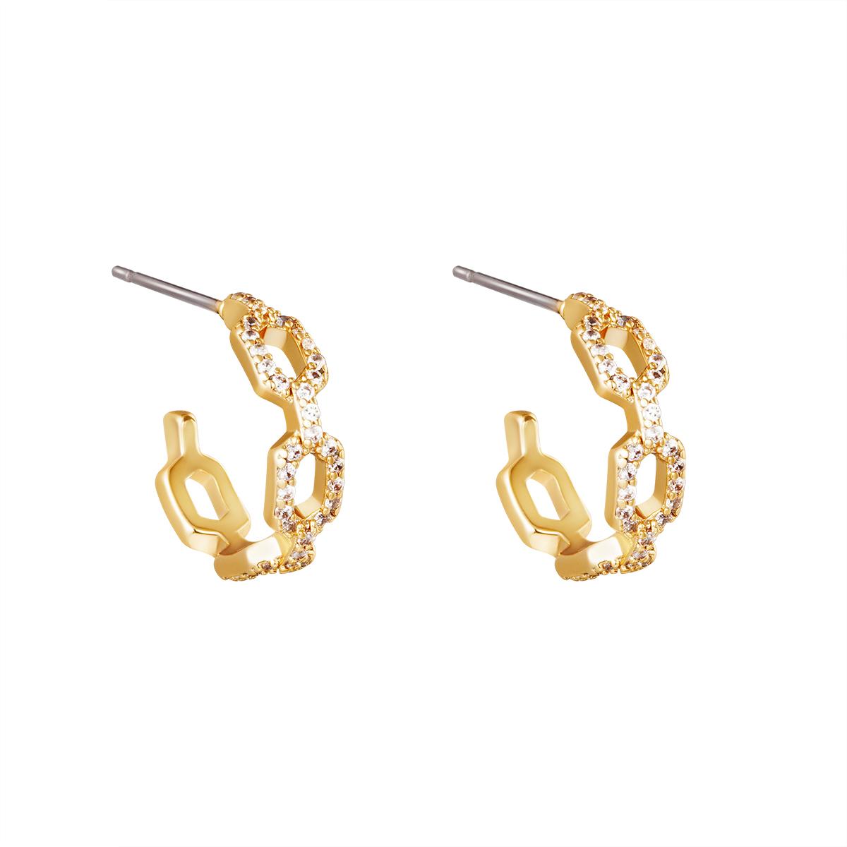 Boucles d'oreilles Diamond Linked