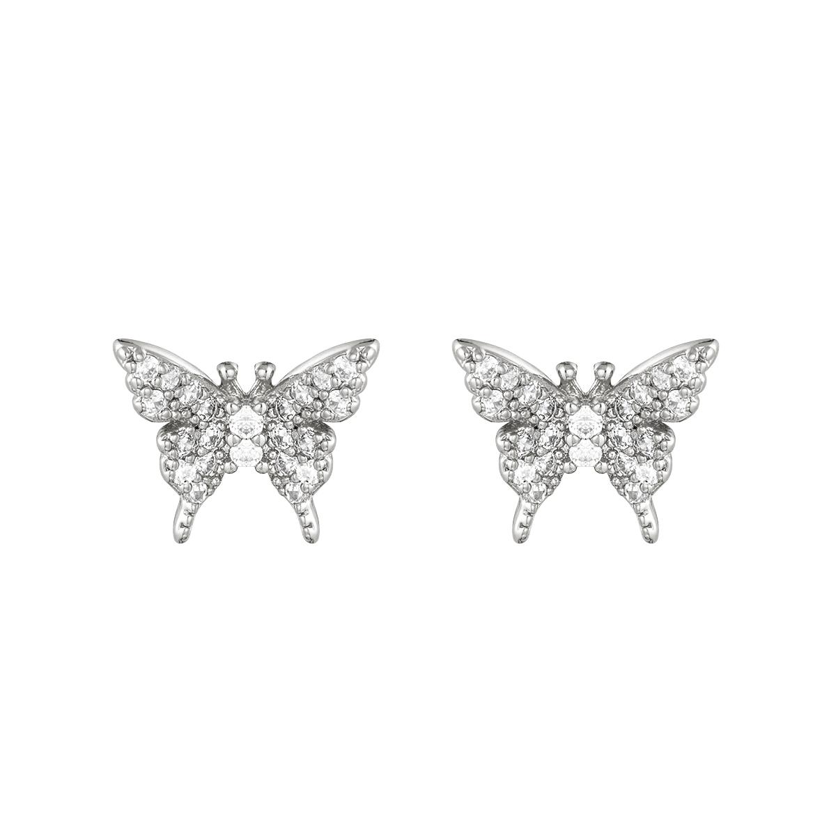 Oorbellen Sparkling Butterfly