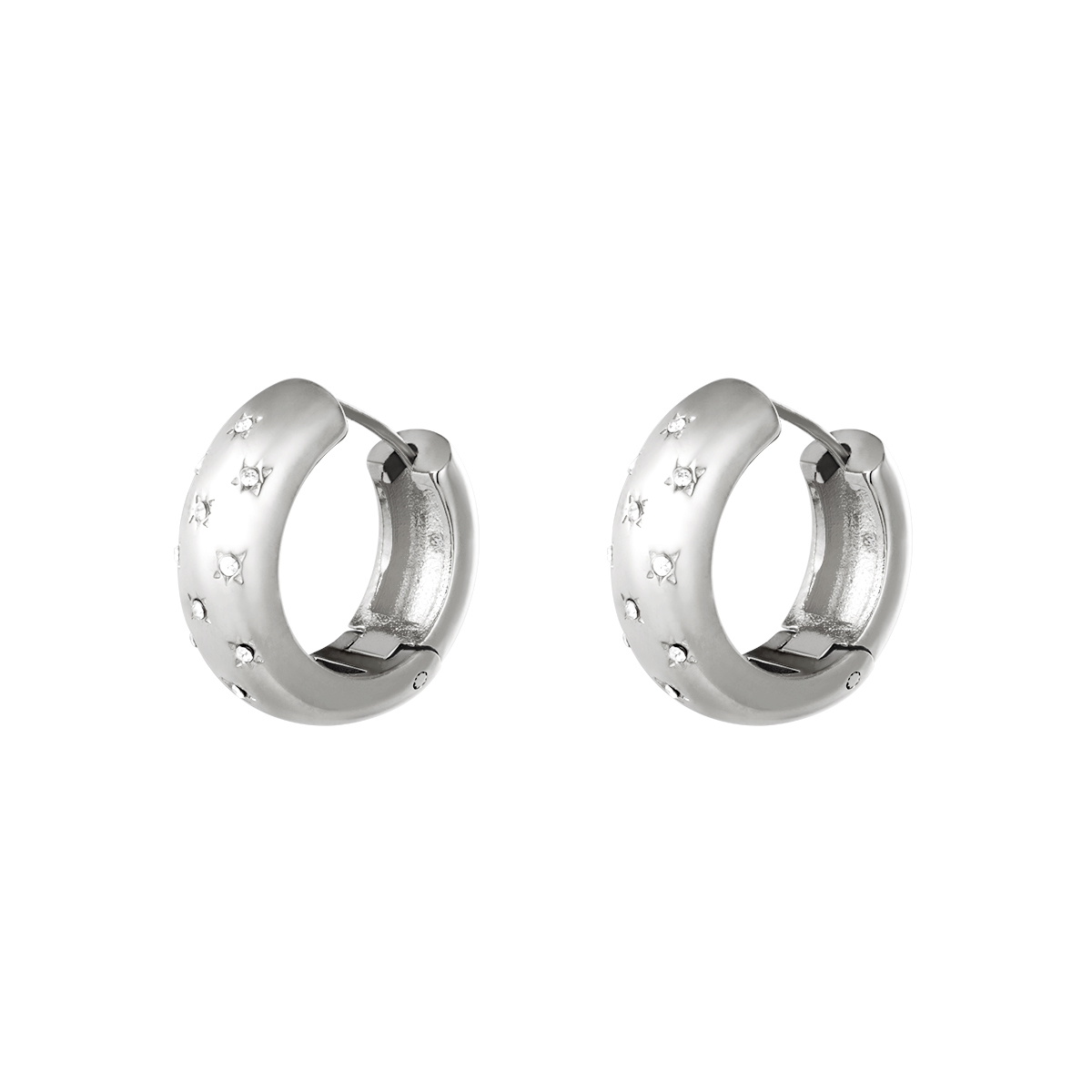Earrings diamond flowers