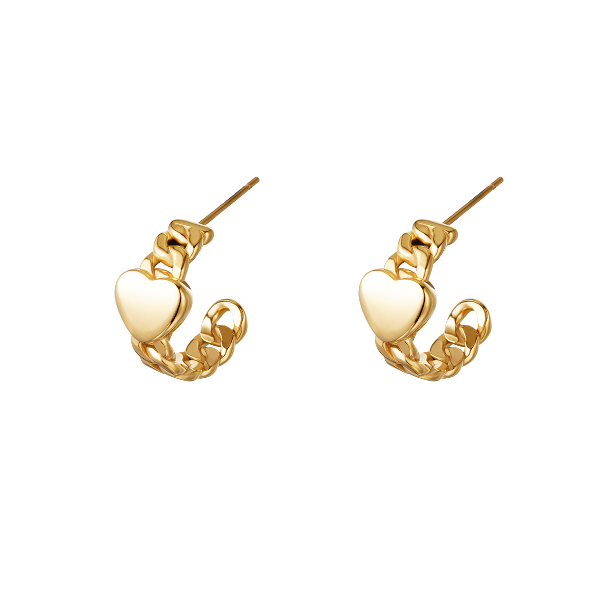 Boucles d'oreilles chained heart