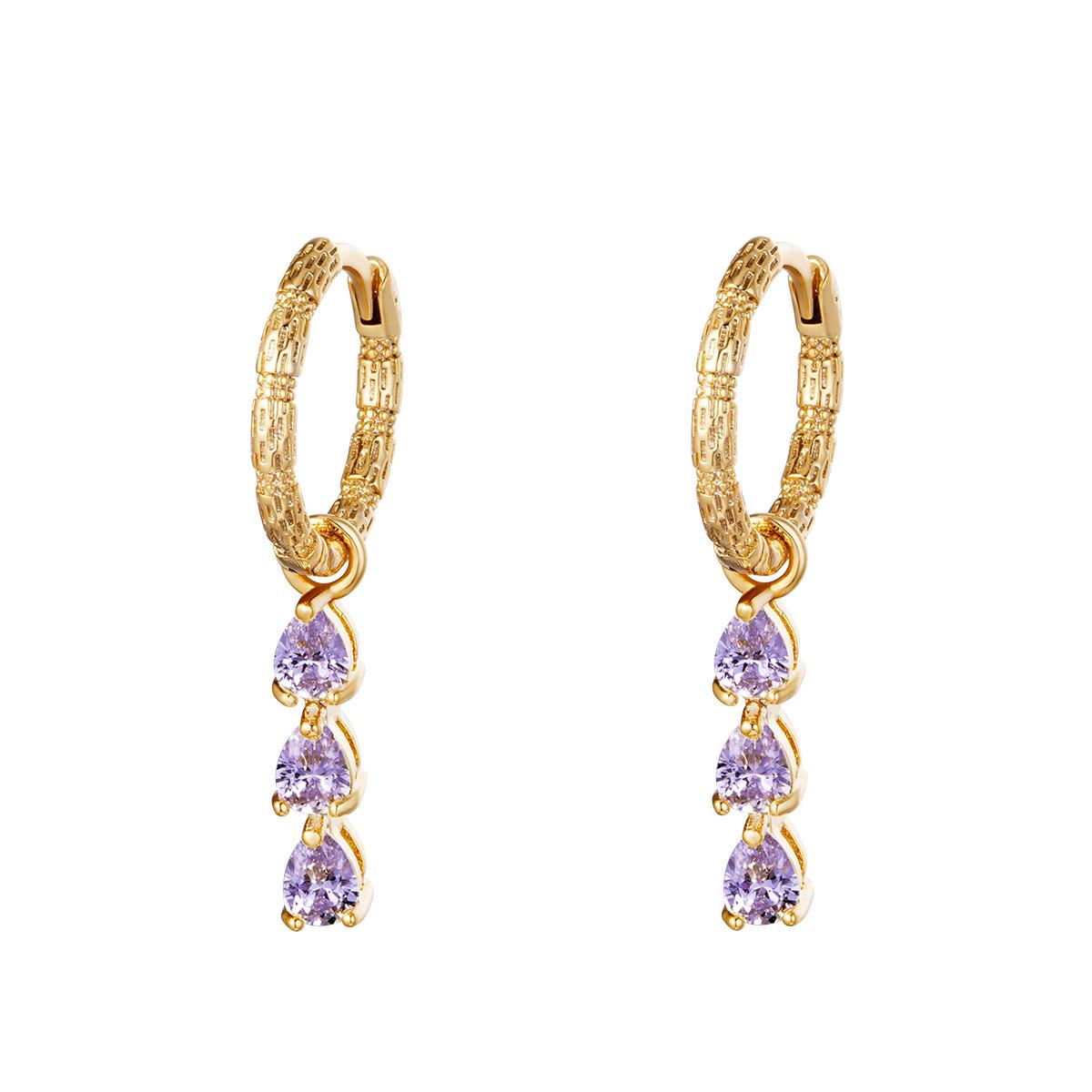 Oorbellen Diamonds In A Row