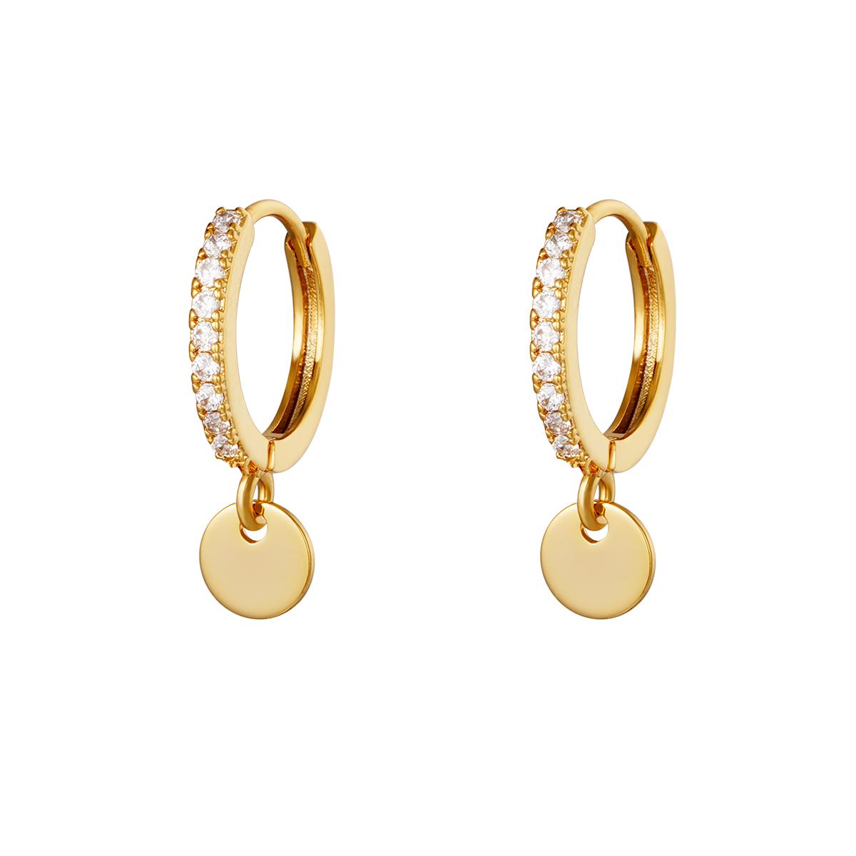 Earrings Diamond Coin