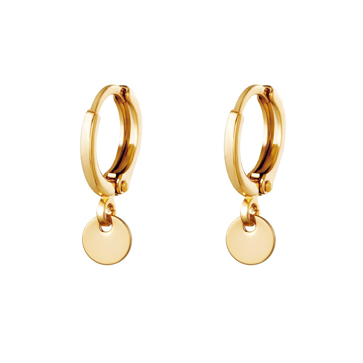 Earrings Plain Coin