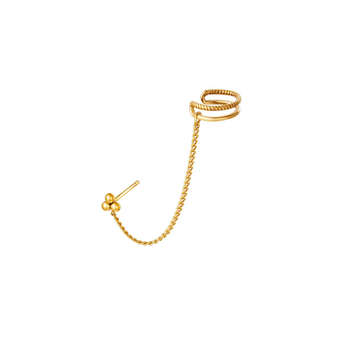 Couvre-oreille en acier inoxydable avec chaîne