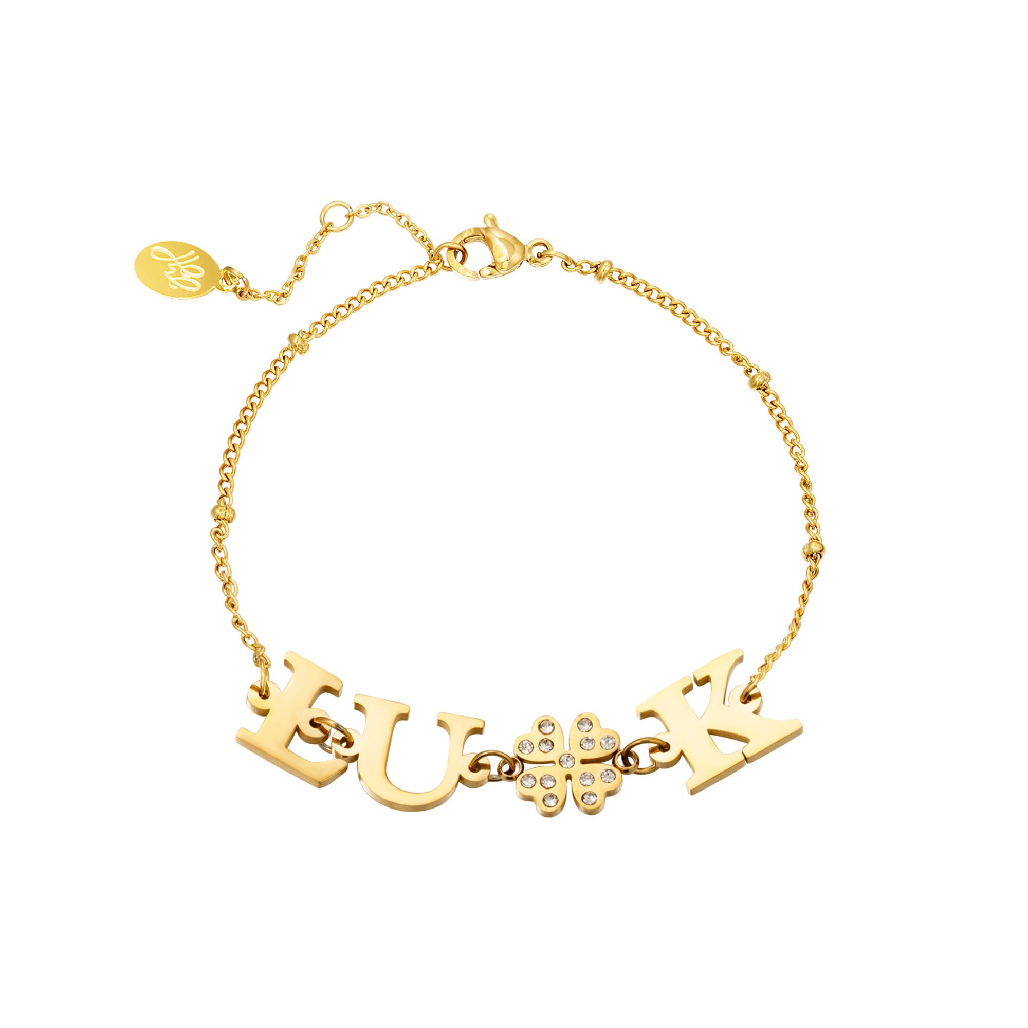 Bracelet acier infini Luck
