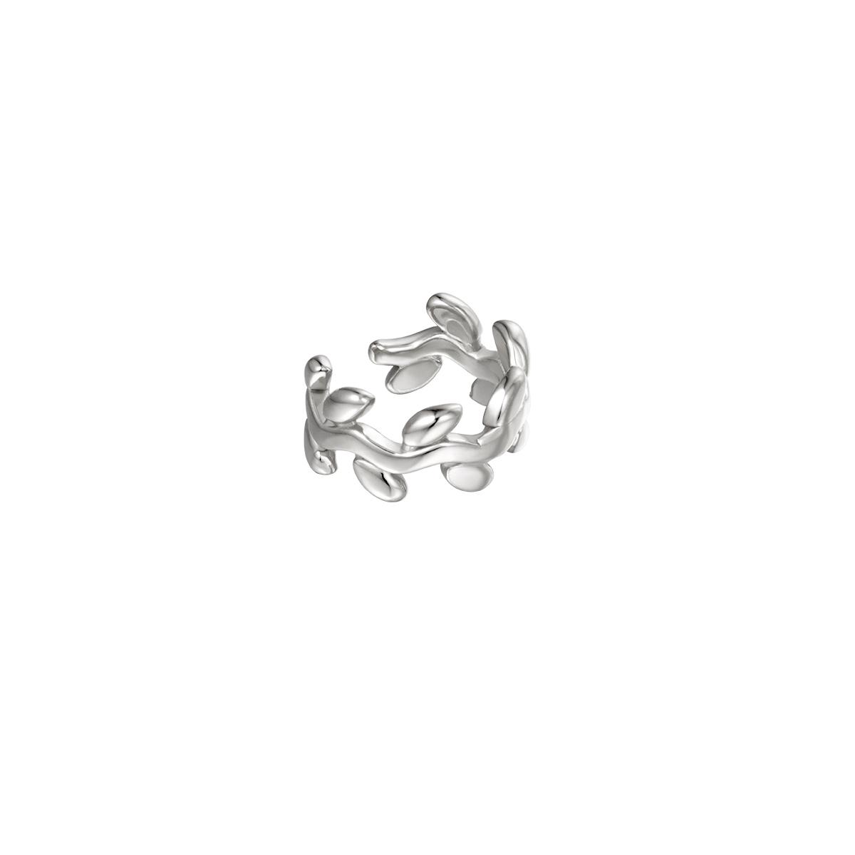 Cache-oreilles en forme de laurier
