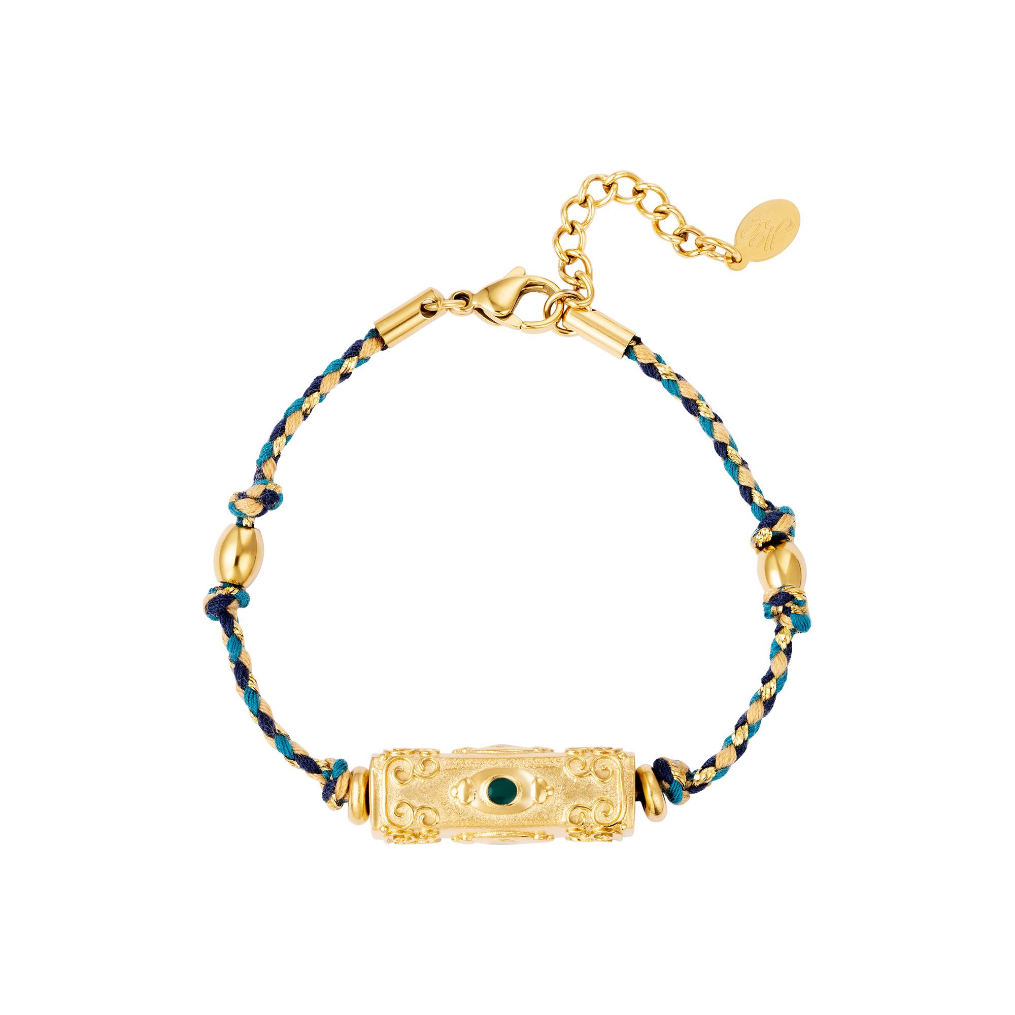 Armband kugelperle blau