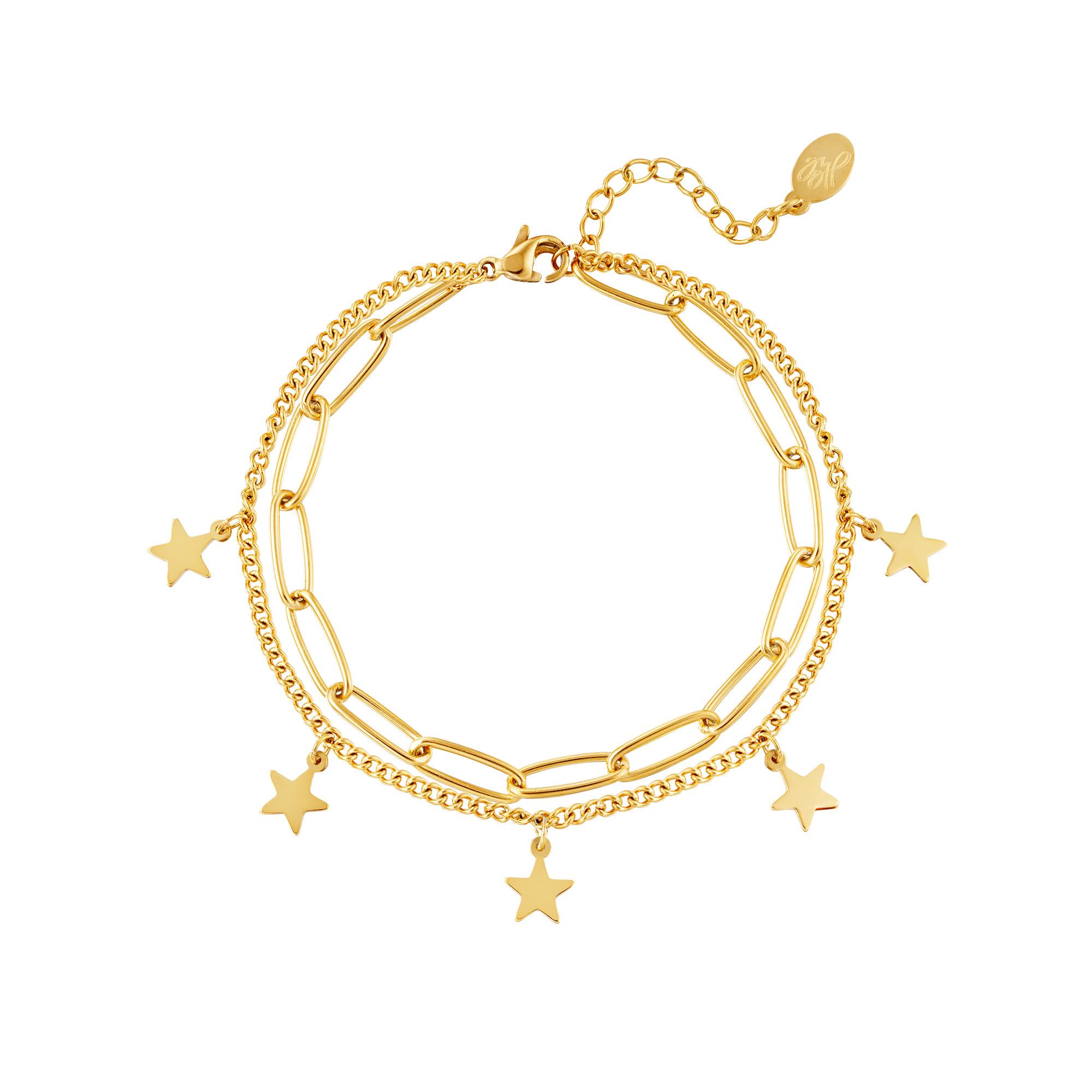 Armband ketting Ster Goud