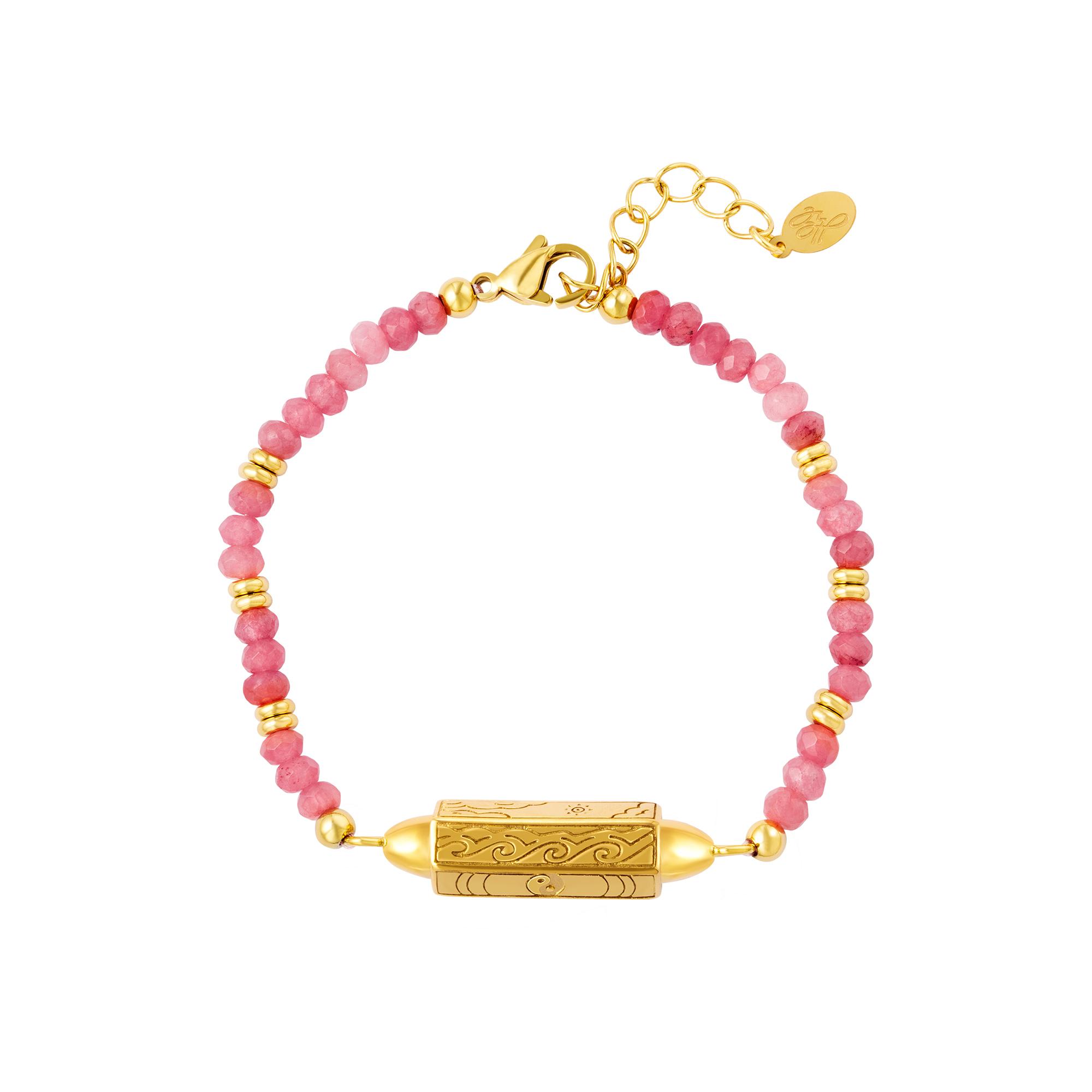 Bracelet en acier inoxydable avec perles