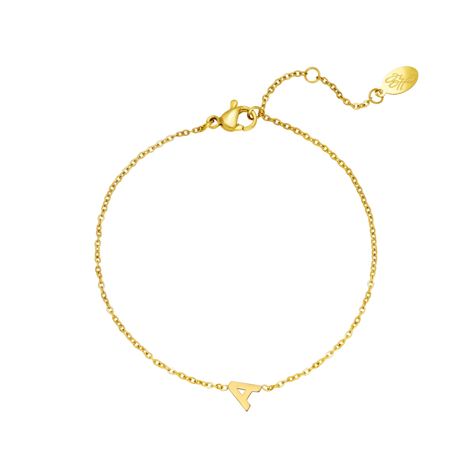 Bracelet en acier inoxydable initiale S
