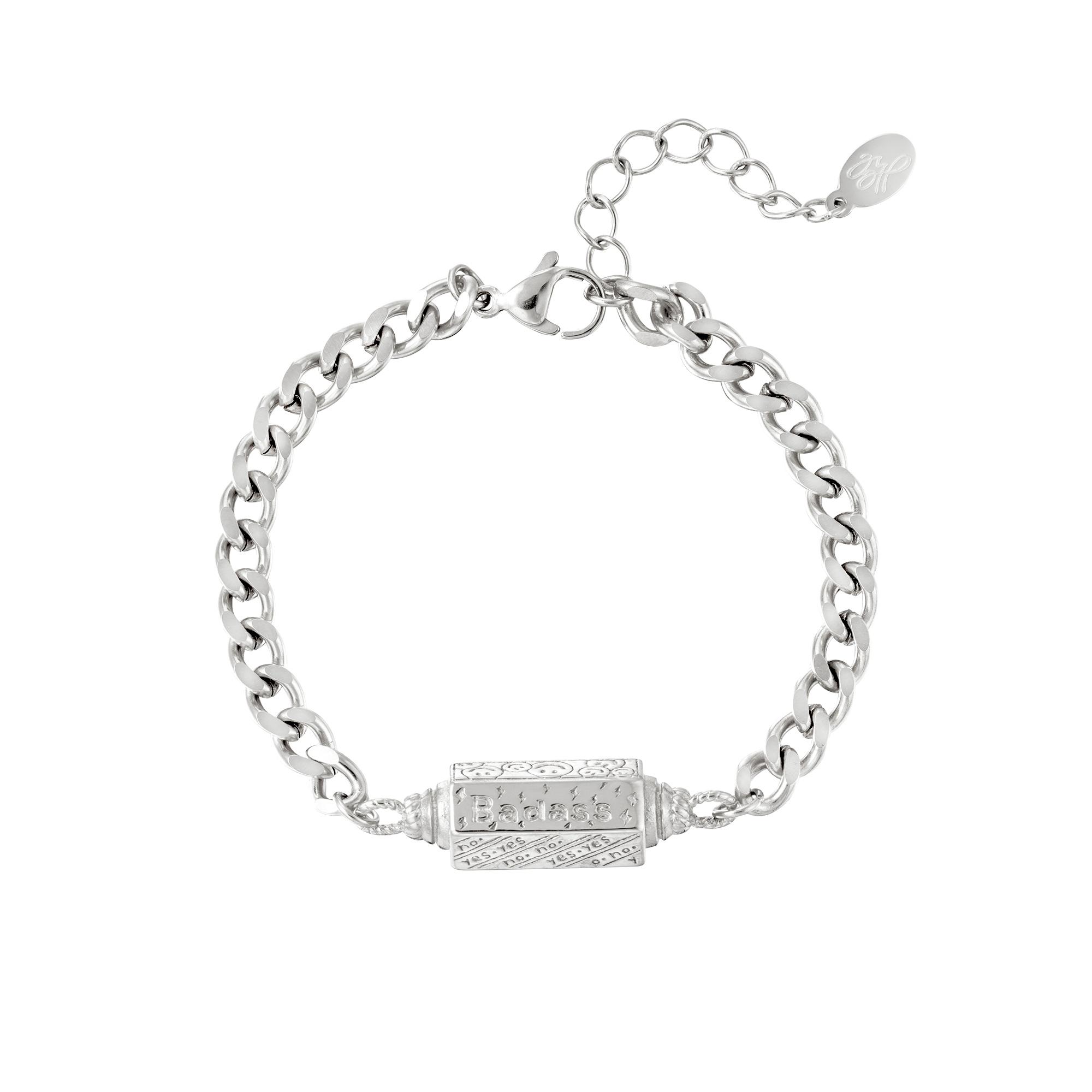 Armband Hanger Badass Zilver