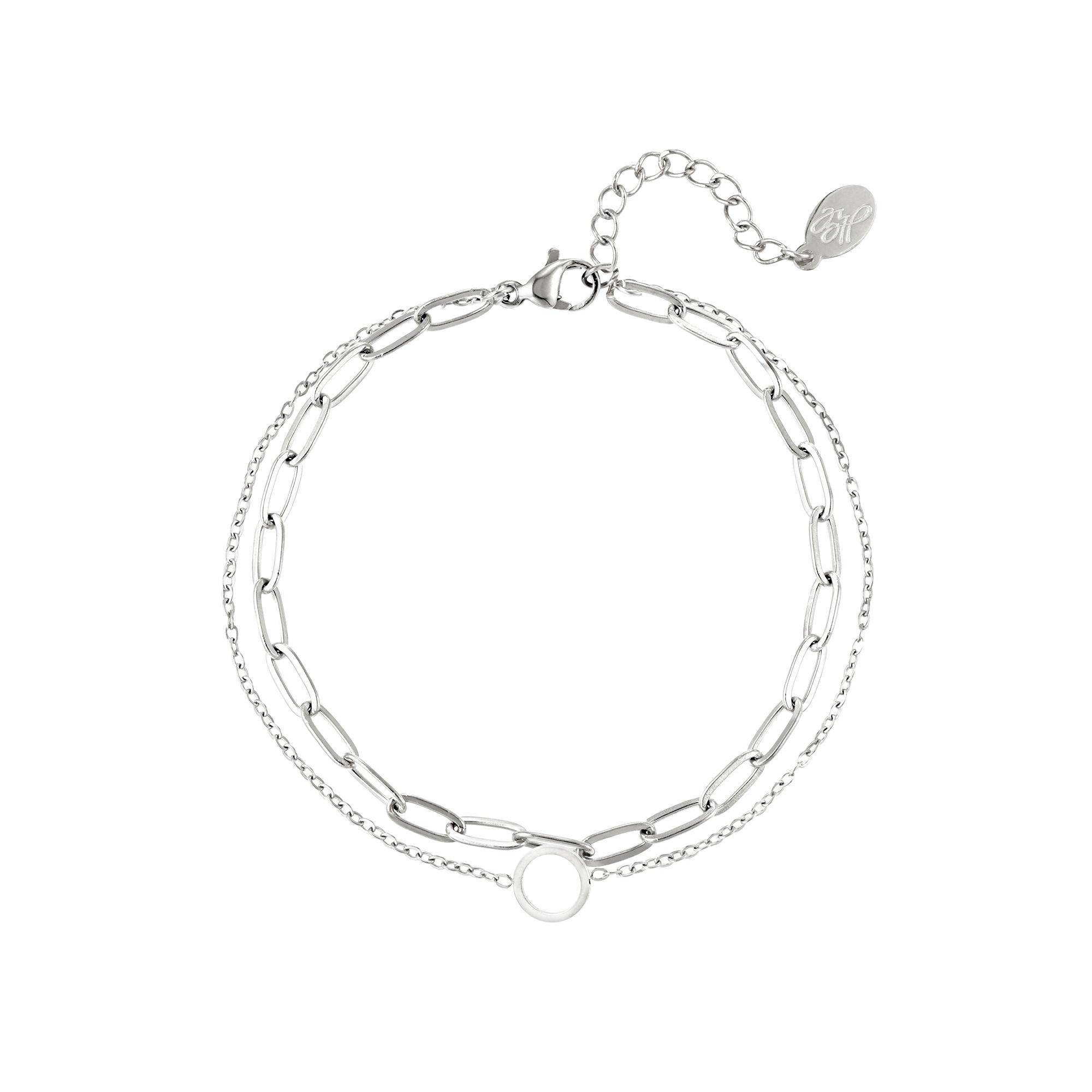 Bracelet multicouche en acier inoxydable