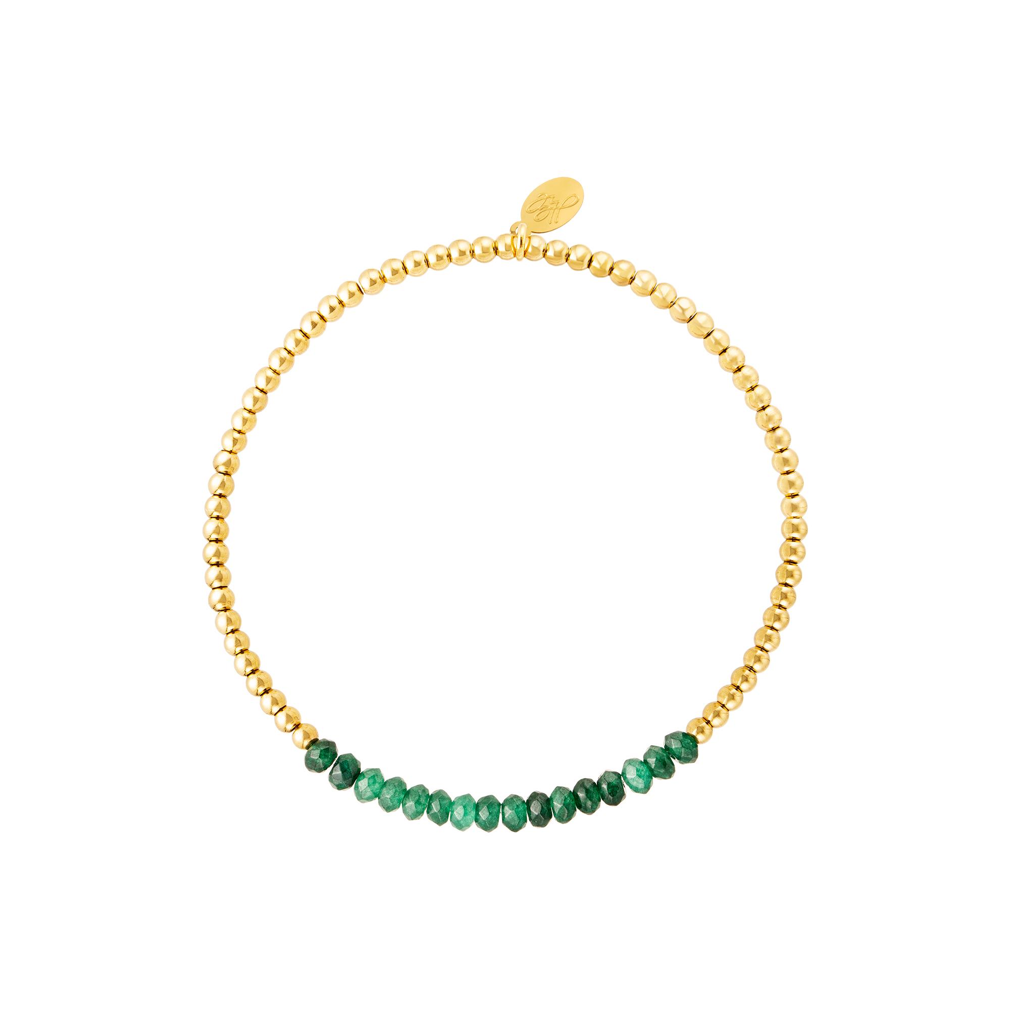 Roestvrijstalen armband met natuurstenen
