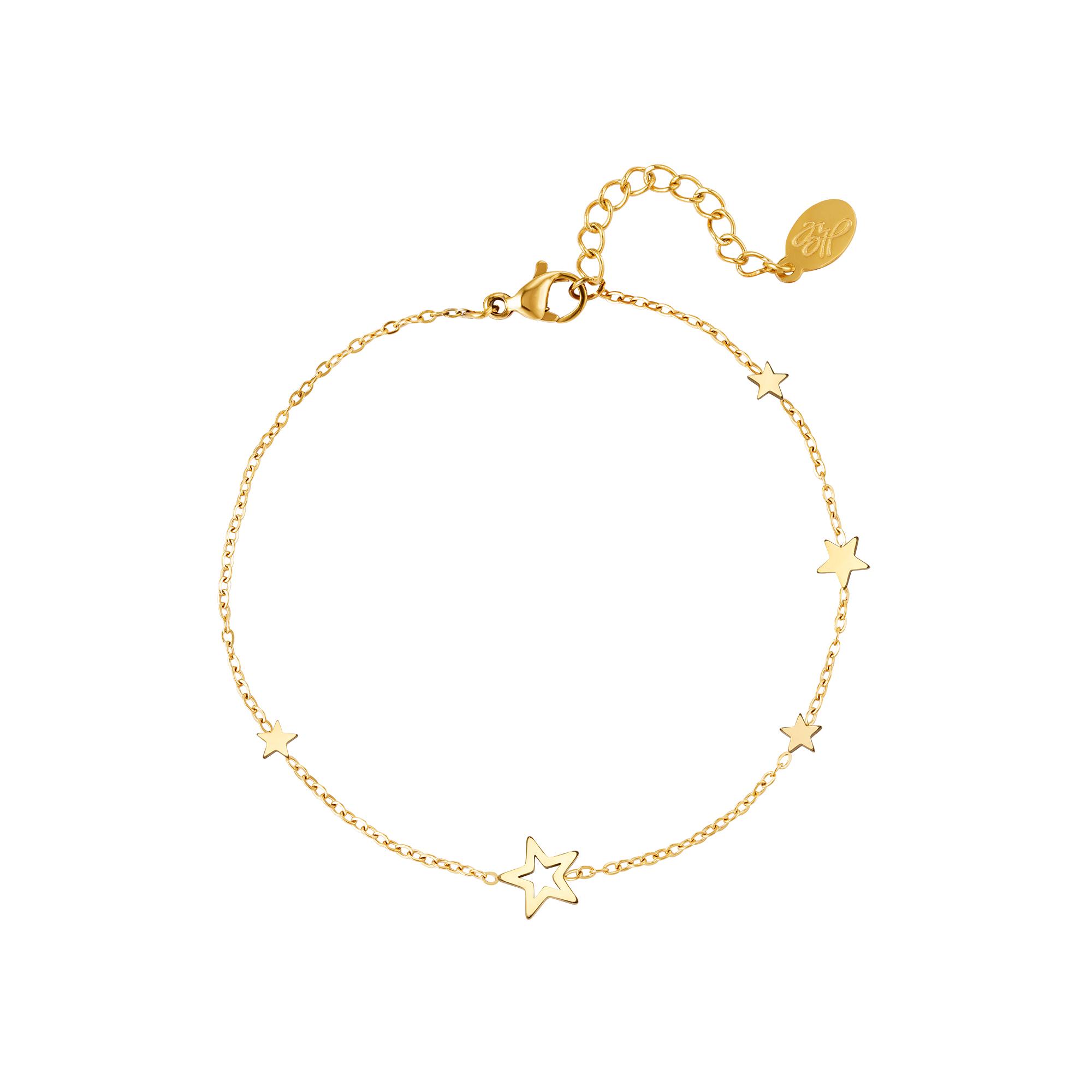 Bracelet en acier inoxydable étoiles