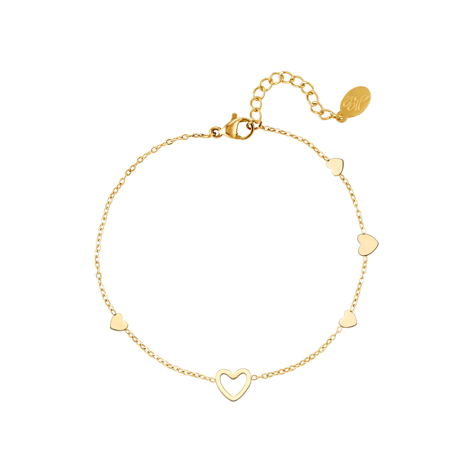 Bracelet coeur en acier inoxydable