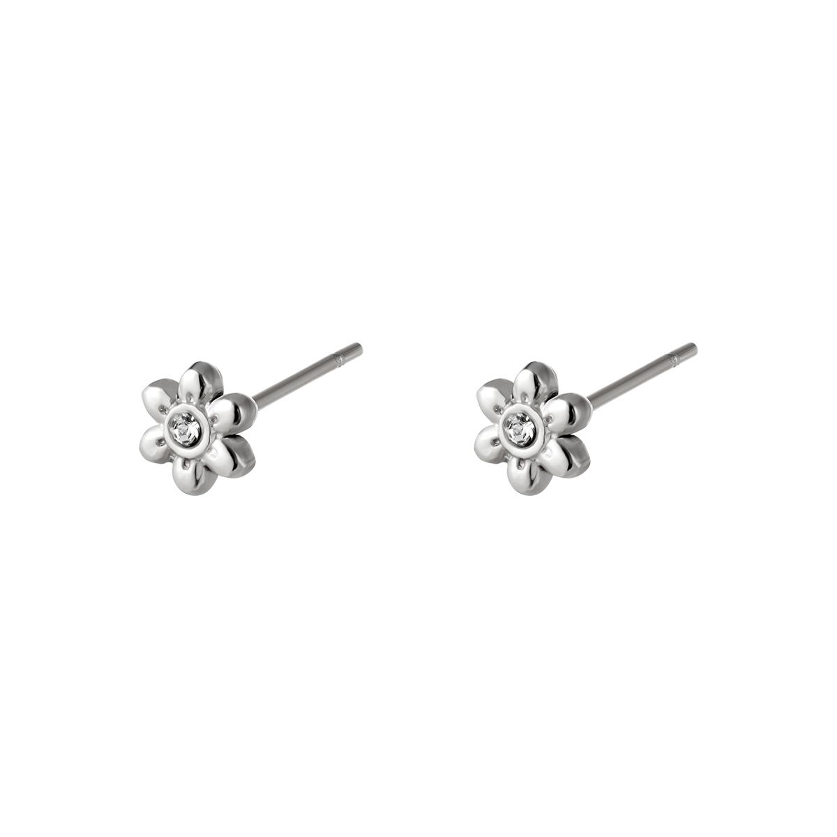 Boucles d'oreilles en acier inoxydable Fleur