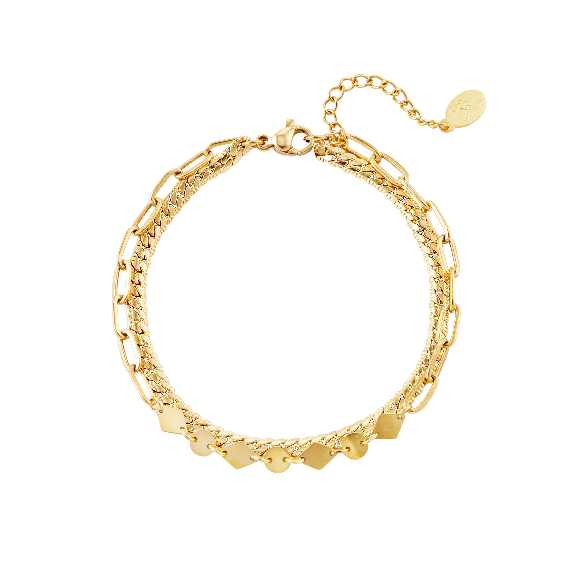 Double layered bracelet
