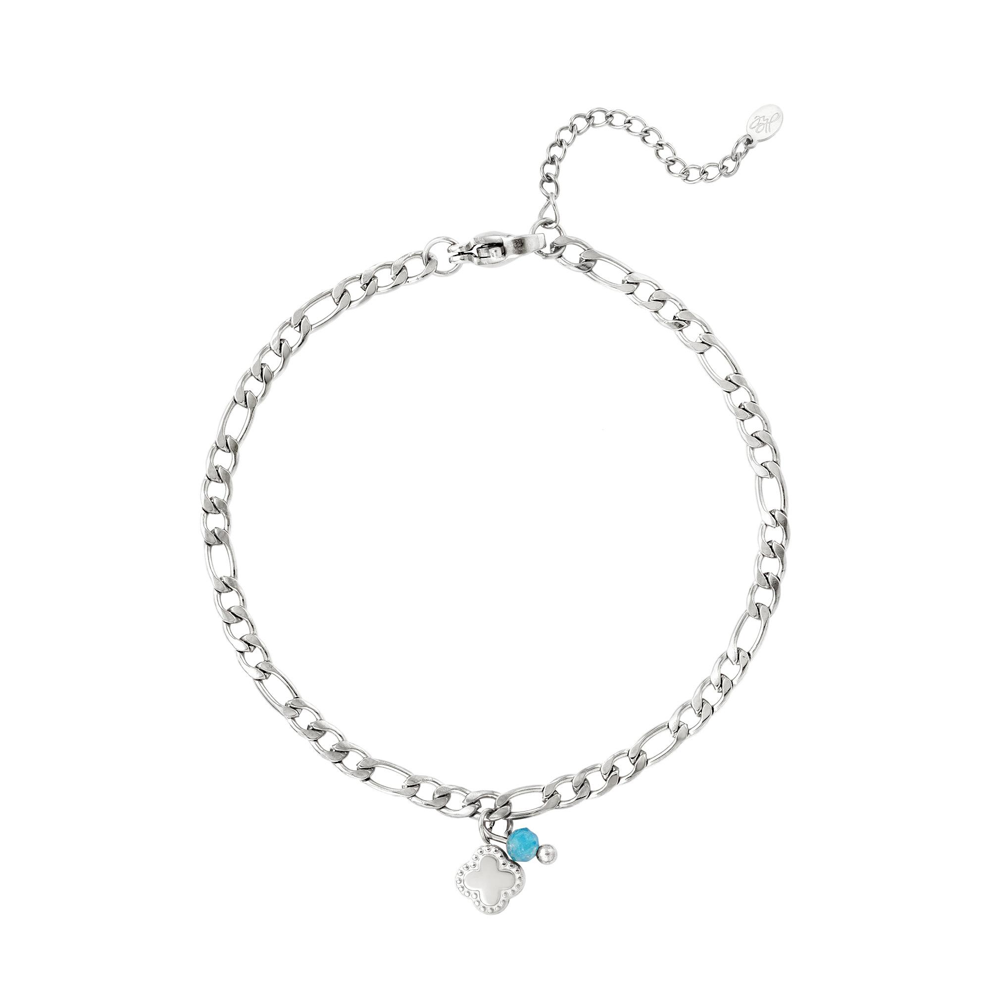 Bracelet en acier inoxydable avec pierre
