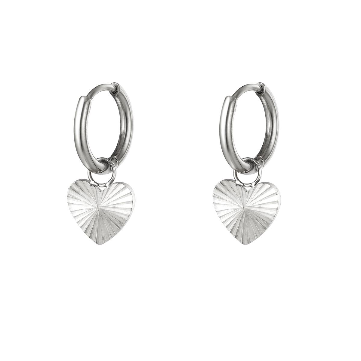 Boucles d'oreilles coeur en acier inoxydable