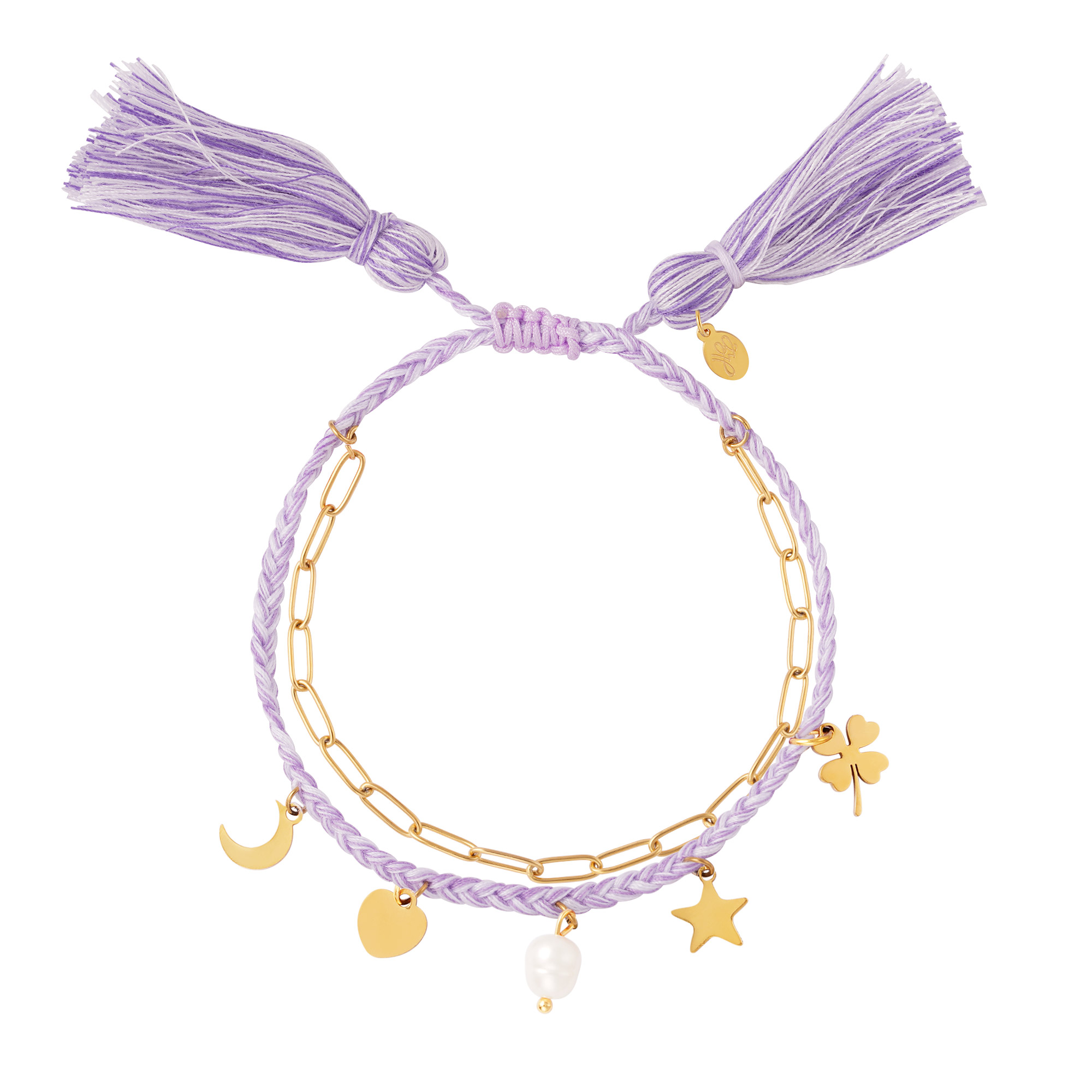 Double bracelet with charms