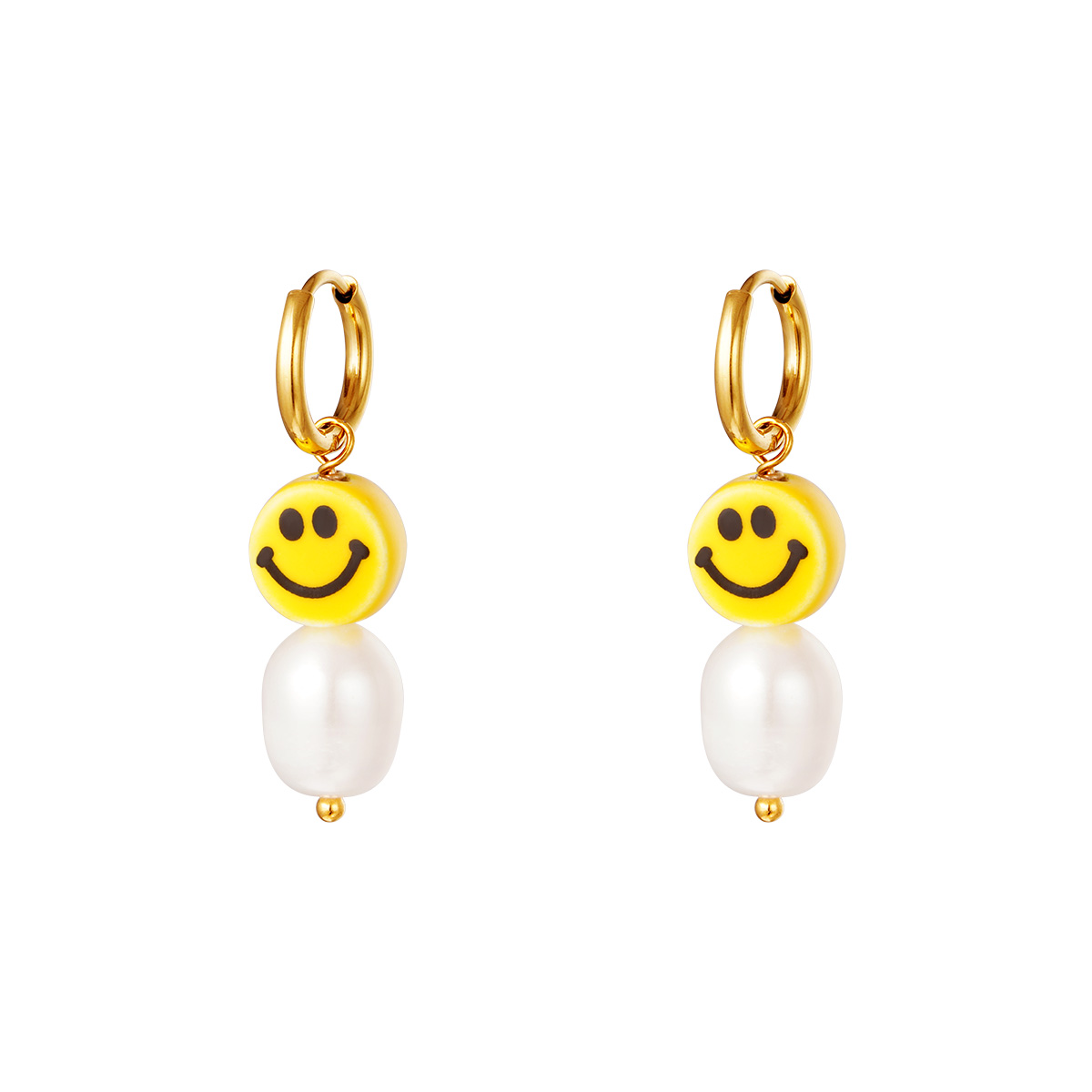 Ohrringe smiley & perle