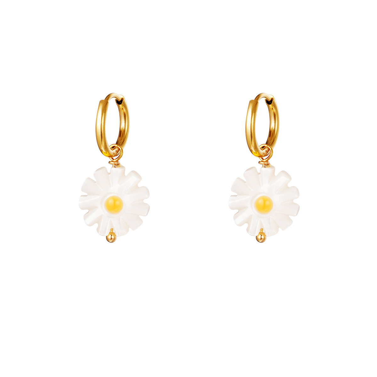 Earring daisy sea shell