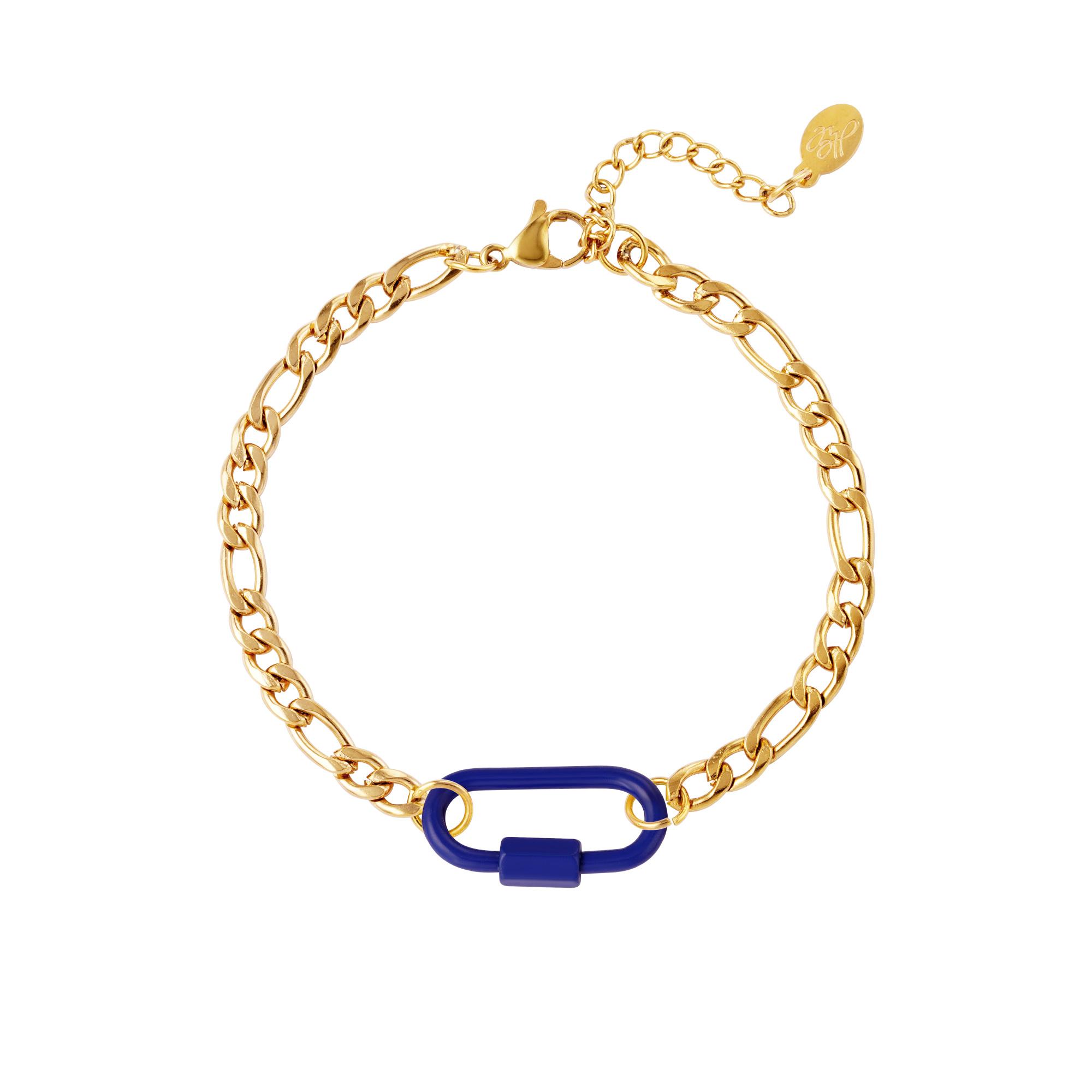 Bracelet cadenas coloré