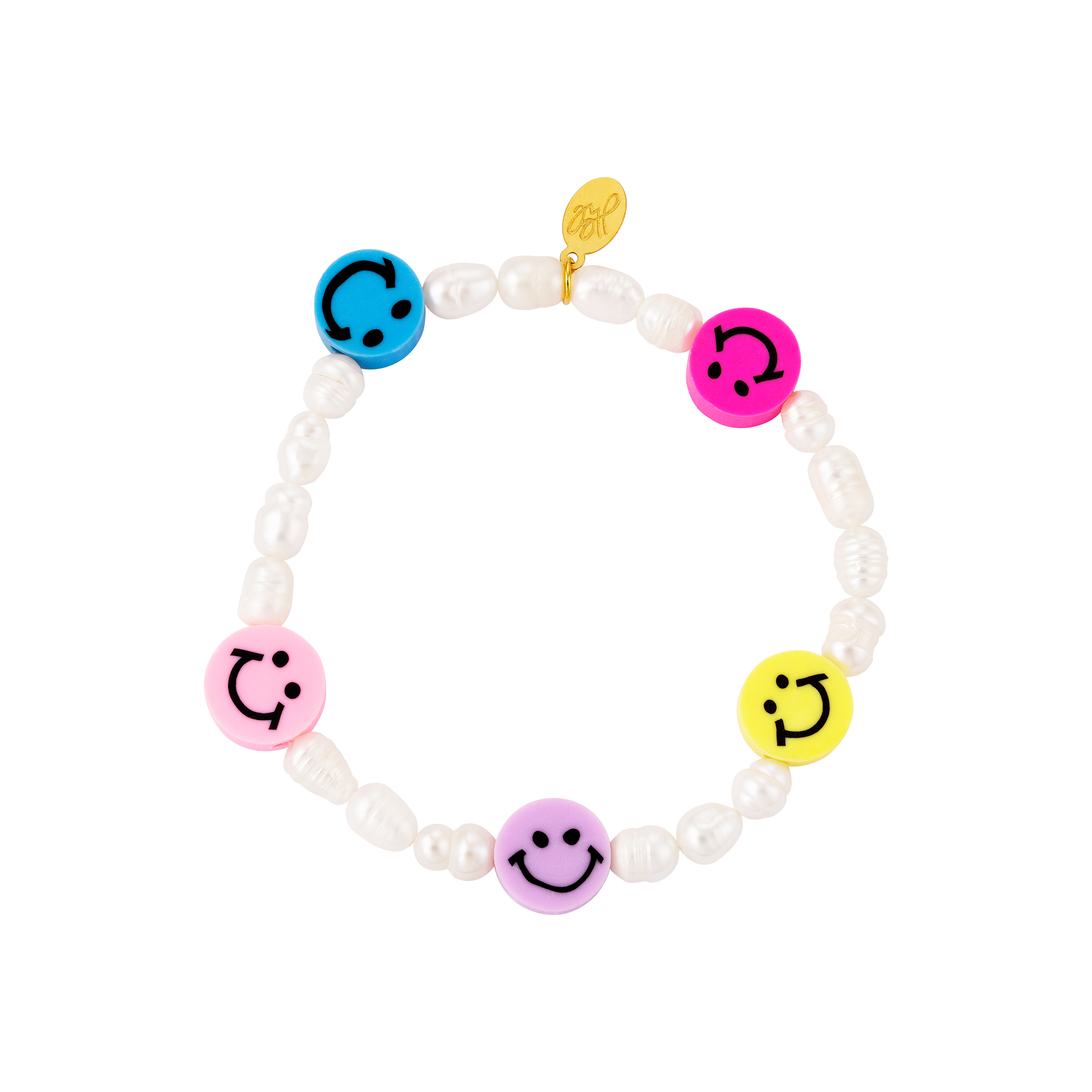 Armband smileys und perlen