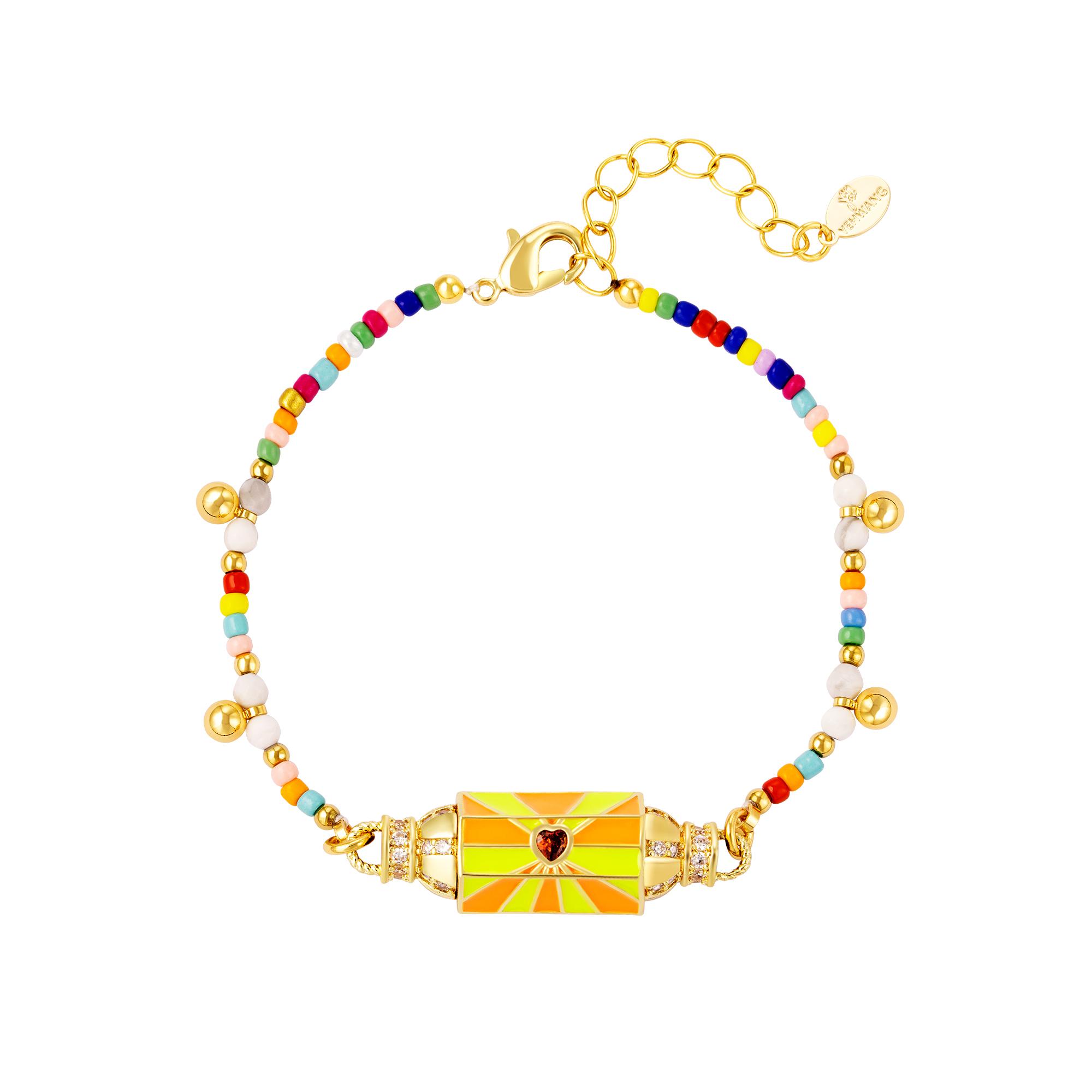 Mehrfarbig vergoldetes armband
