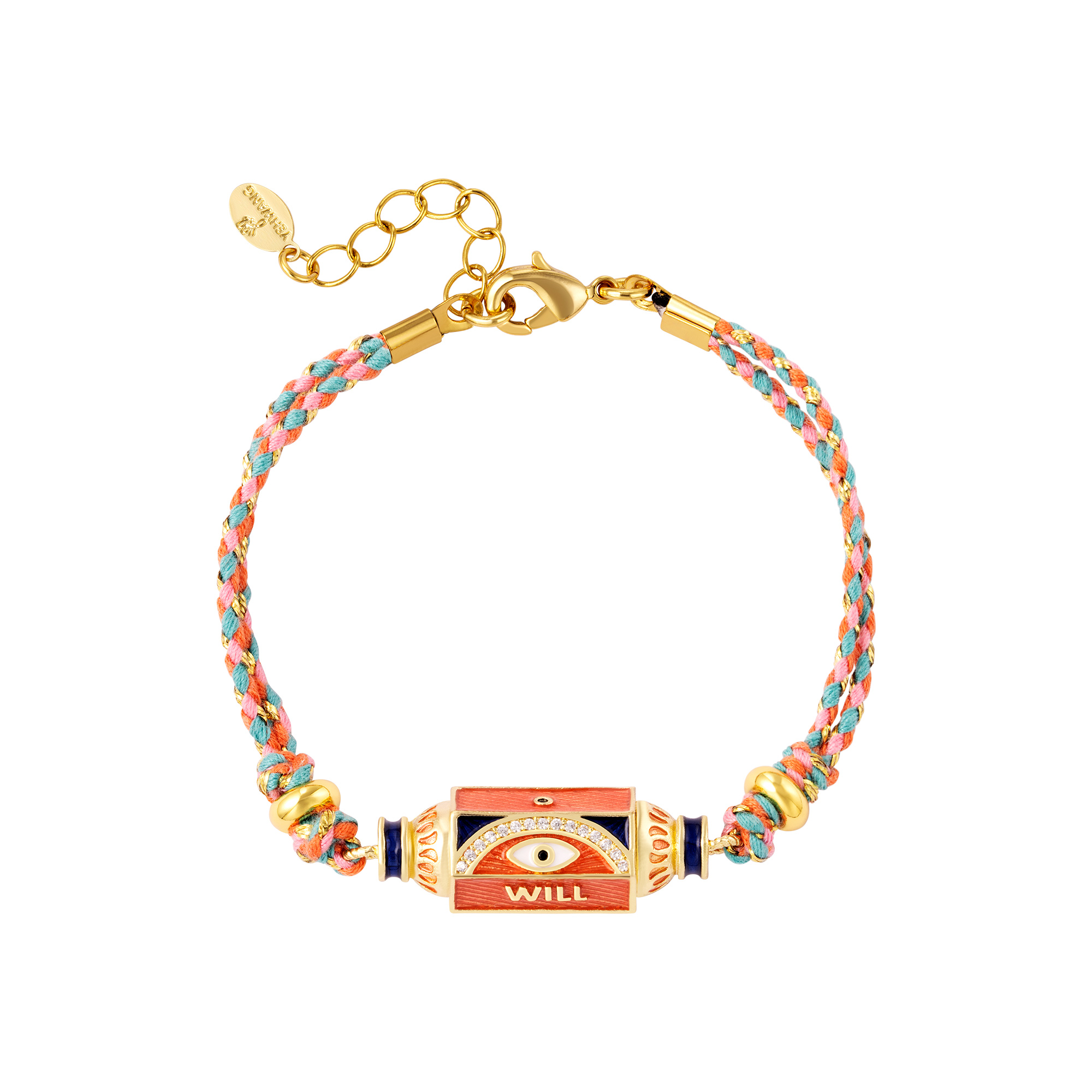 Multi-color gold plated bracelet Will