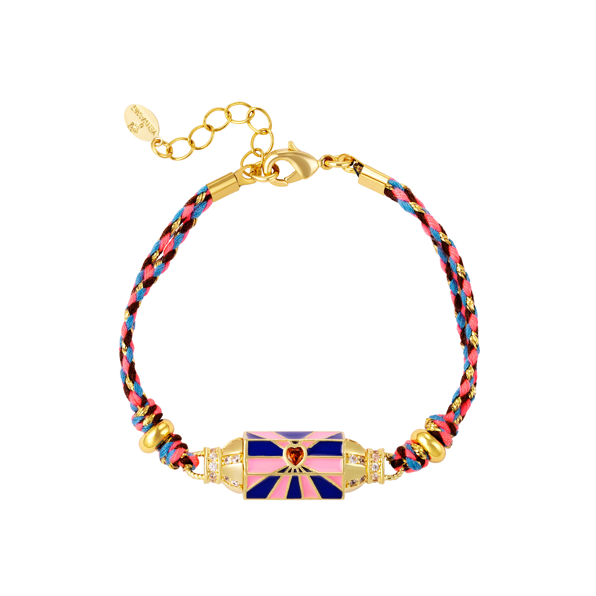 Colorful gold plated bracelet