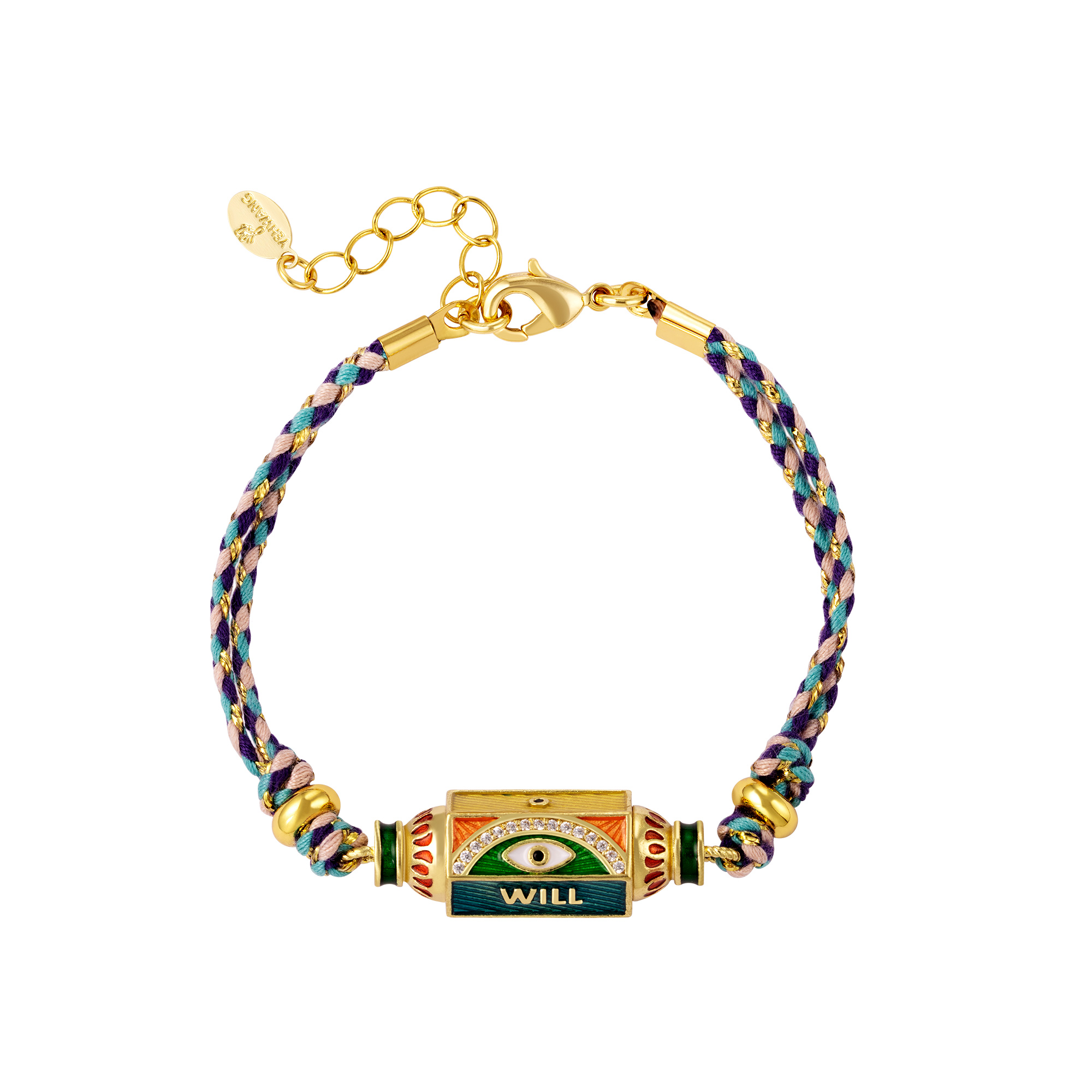 Blue-green gold plated bracelet Will