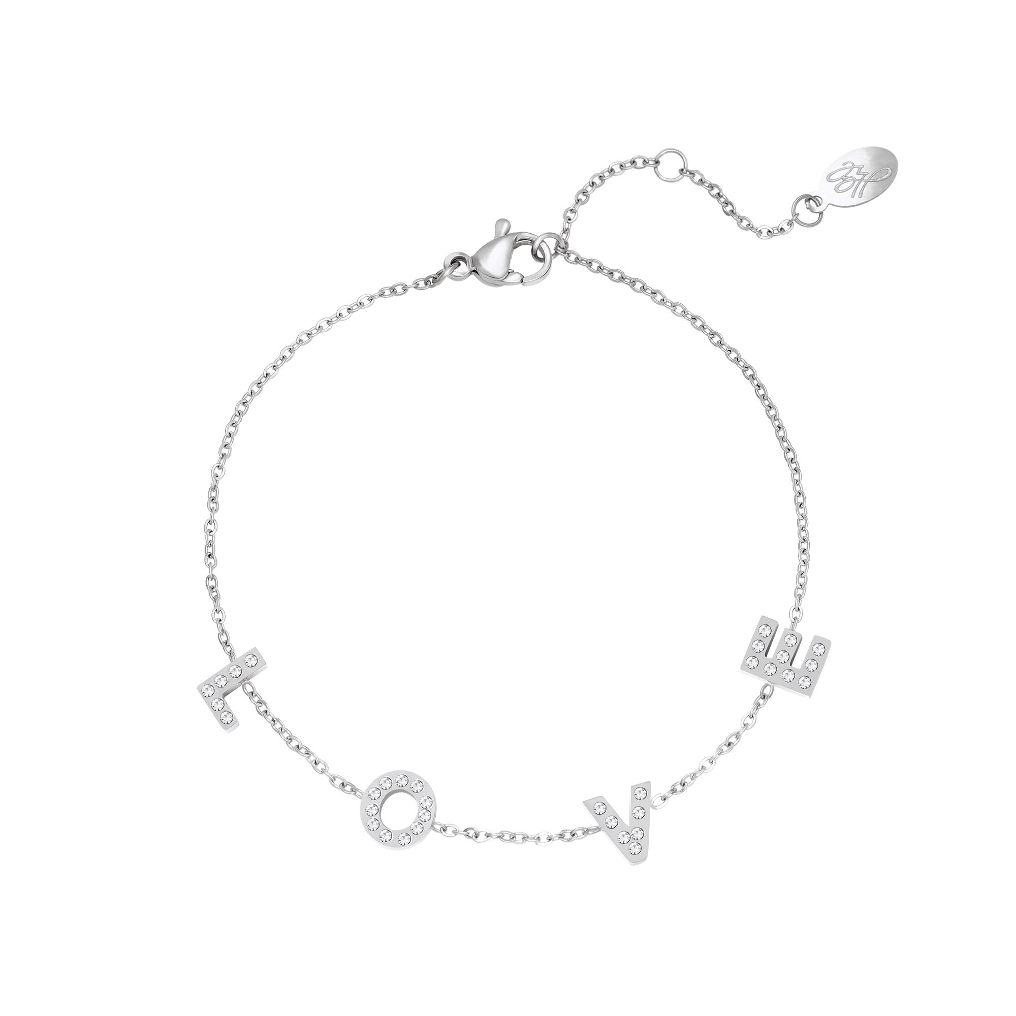Stainless Steel Bracelet Love