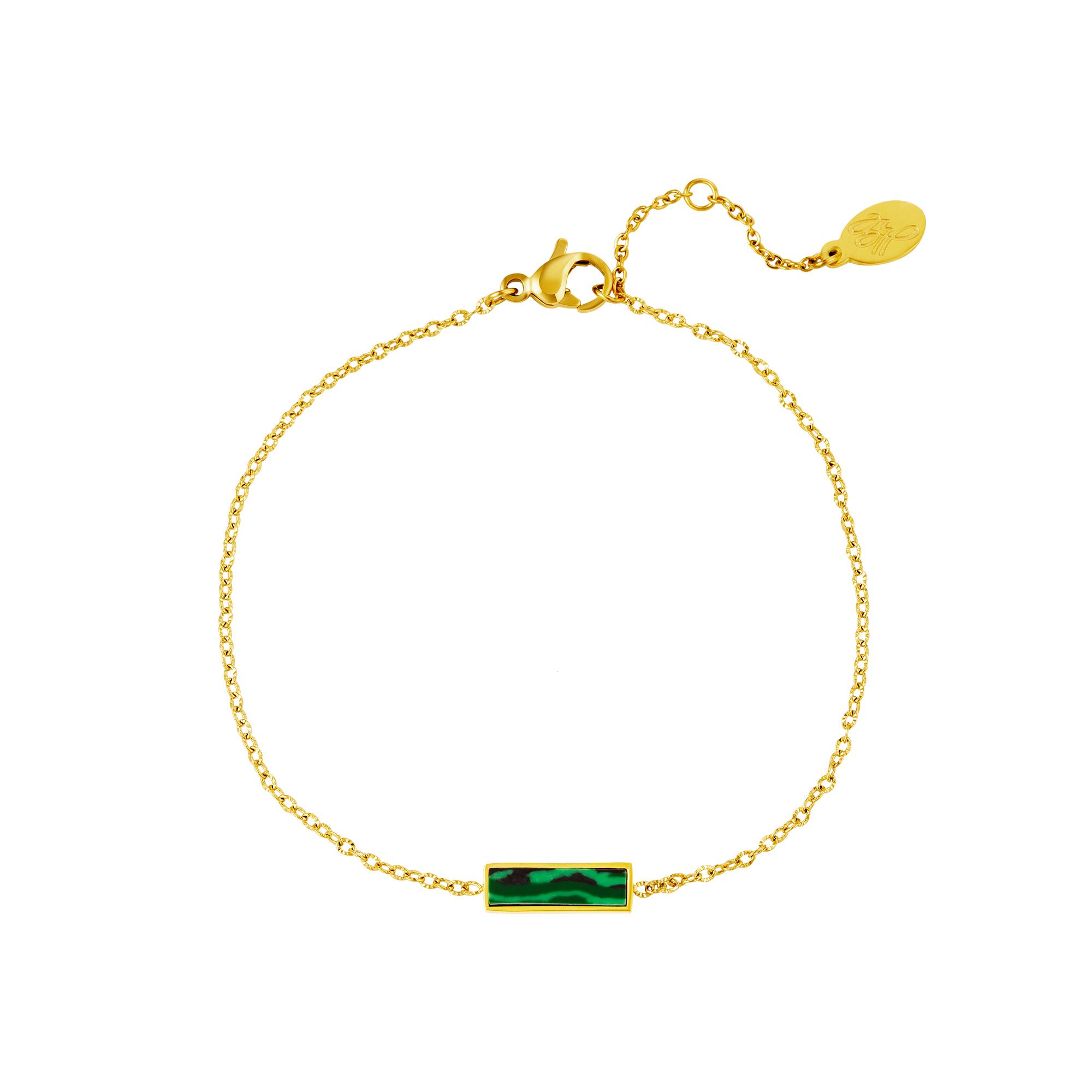 Pulsera mármol barra verde
