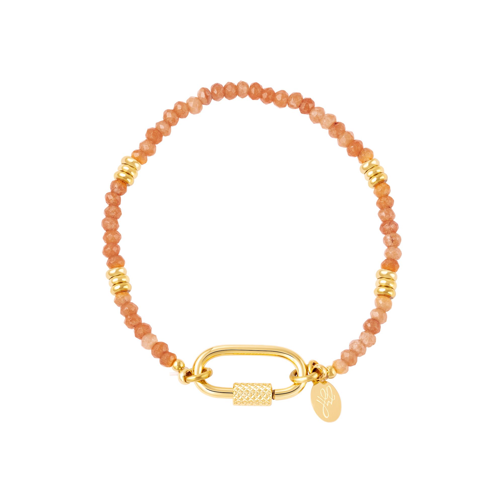 Bracelet avec fermoir mousqueton
