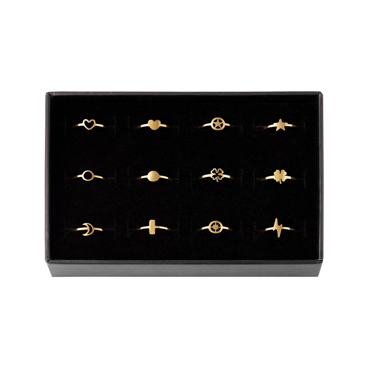 Verstelbare ringen set 12 stuks