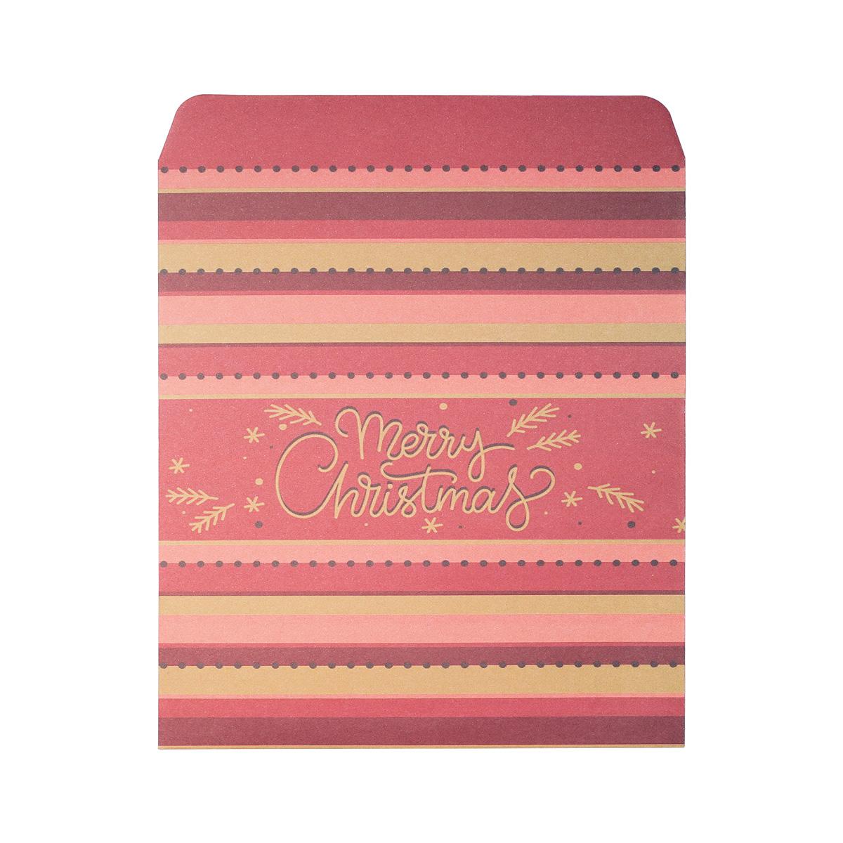 Gift bag merry christmas red