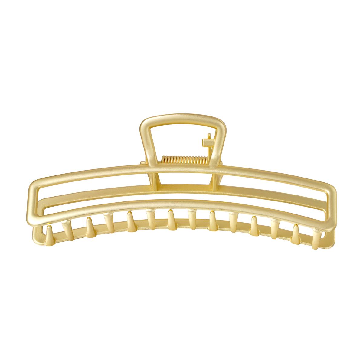 Haarspange metall rechteck gold