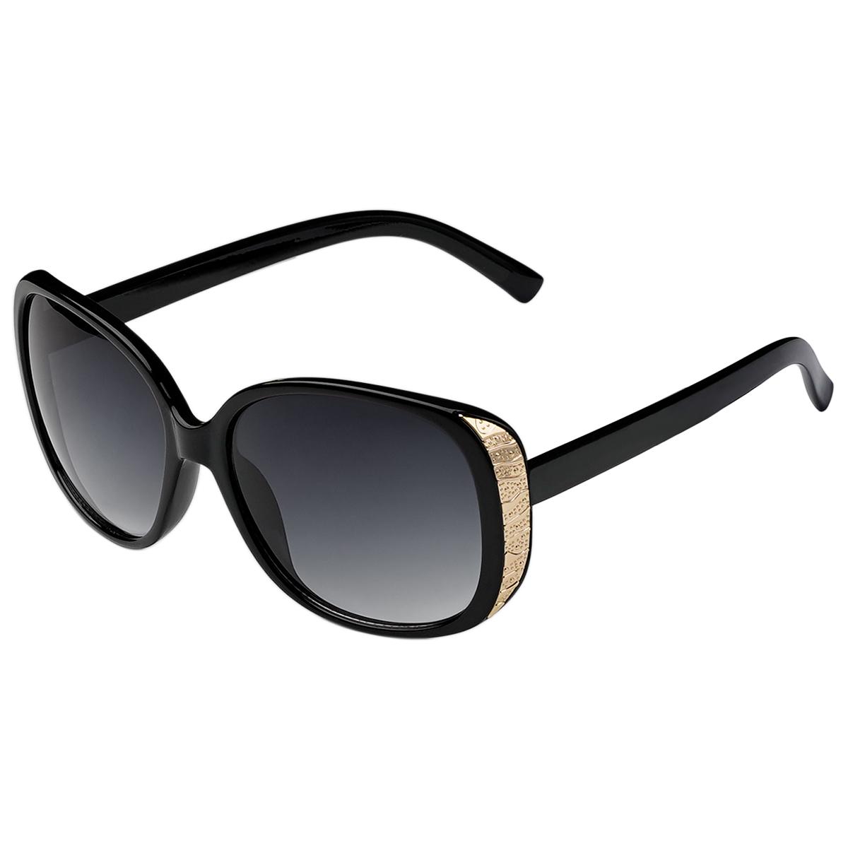 Sonnenbrille new edge schwarz und silber