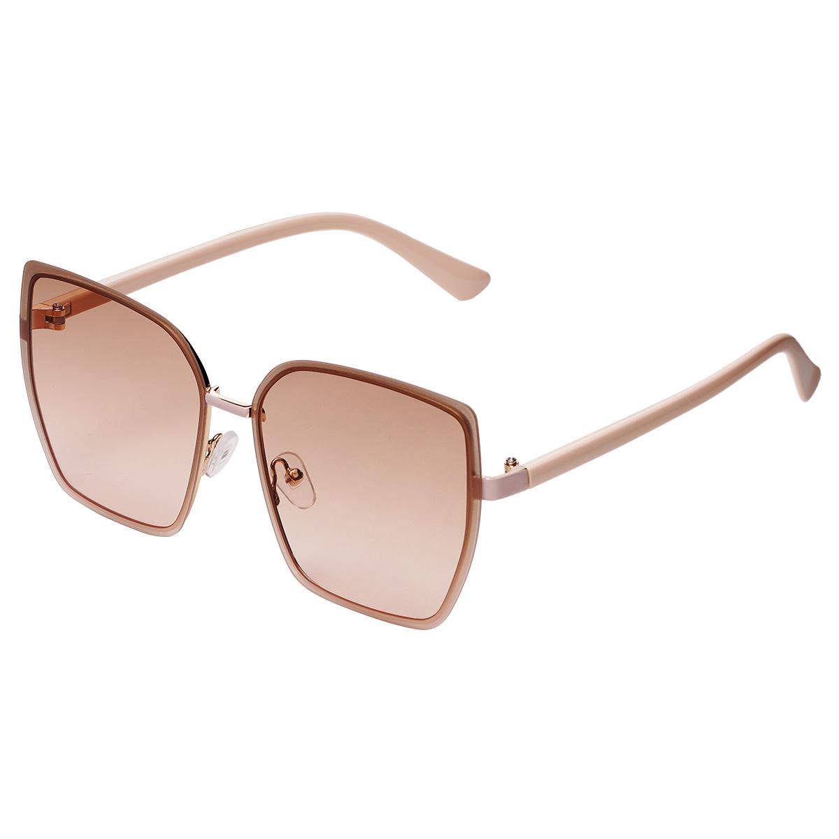 Gafas de sol beige con montura pequeña