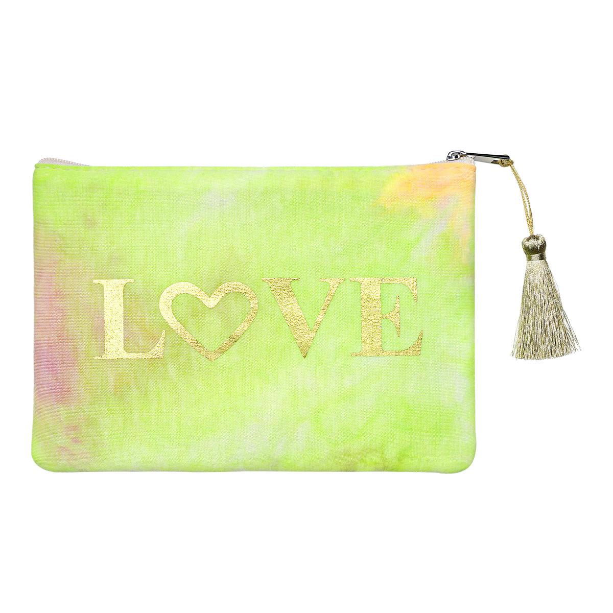 Cartera Tie Dye Love Verde