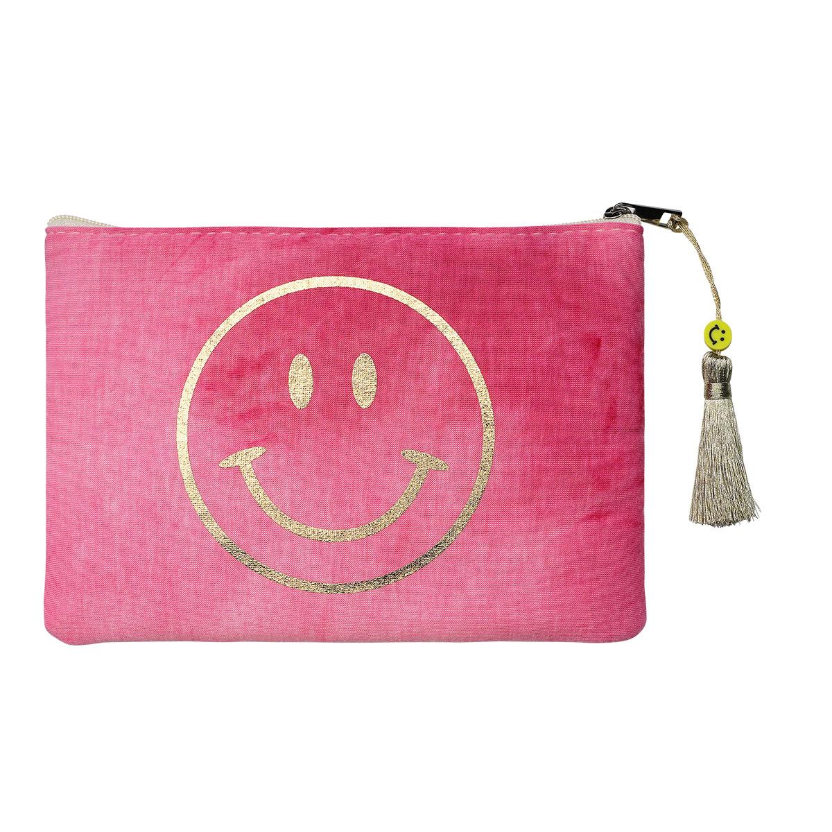 Pochette Tie Dye Smiley Rose