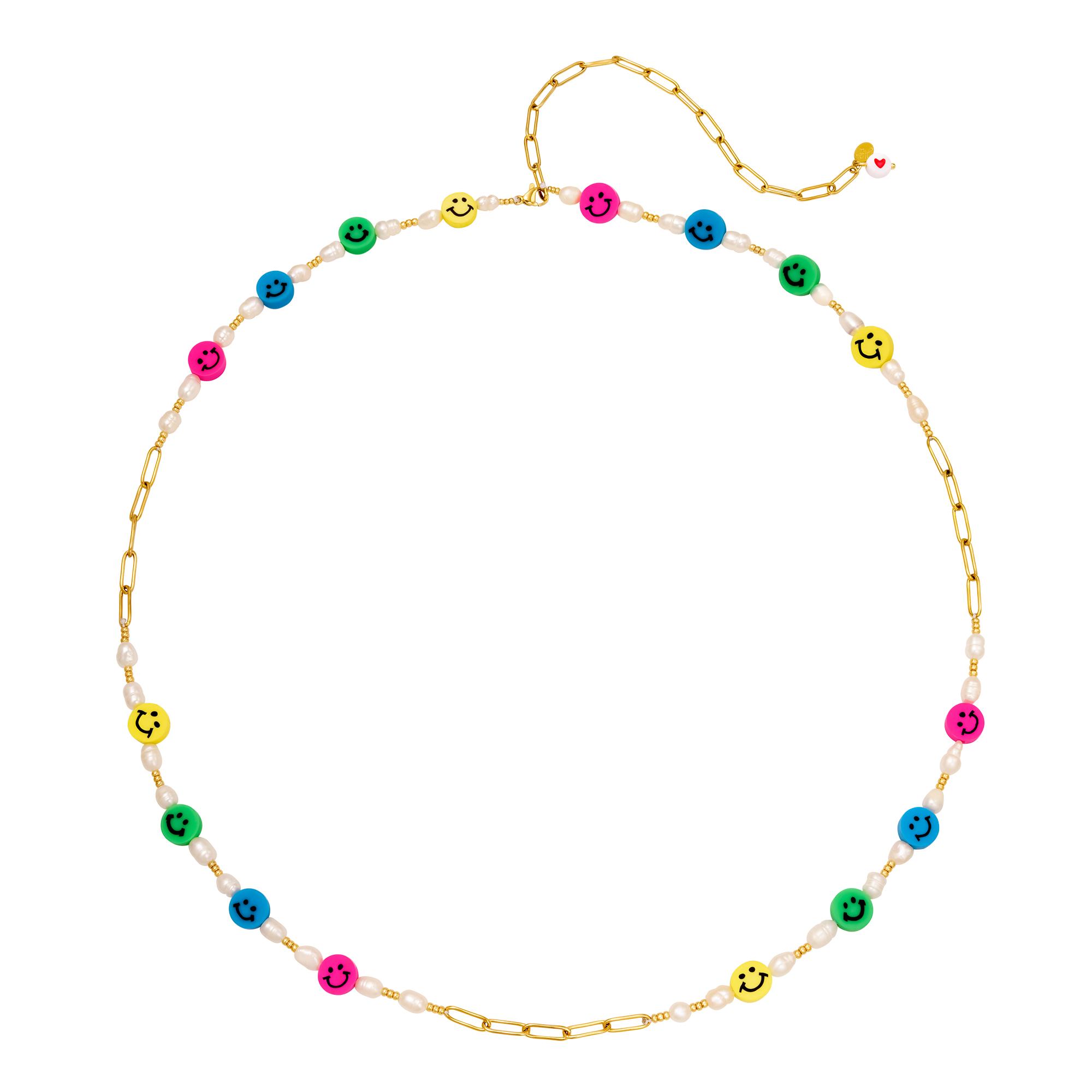 Emoticonos y perlas de cadena de cintura